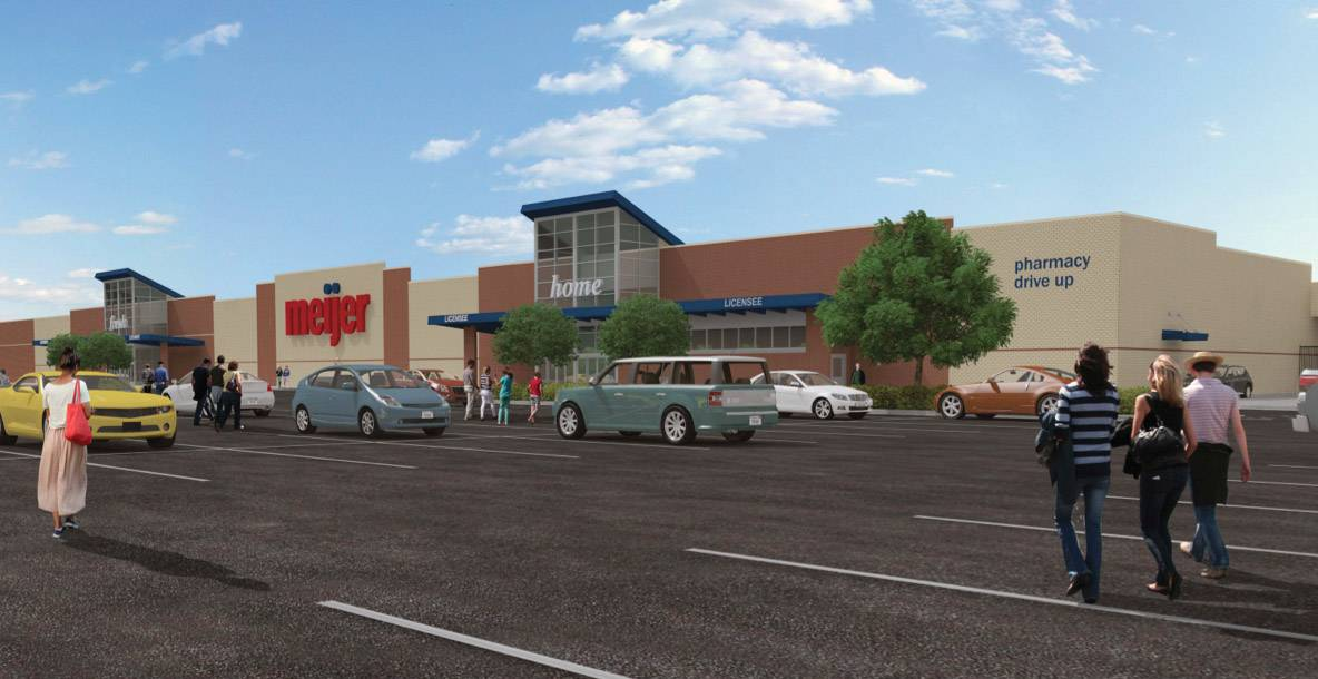 Round Lake Beach officials gave preliminary approval for a Meijer superstore and other uses at the Mallard Creek shopping center on Rollins Road near Route 83.