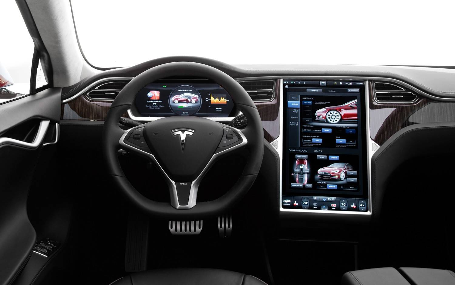 Tesla Motors Inc., a month after starting Model S deliveries in the U.K., said its flagship electric sedan is among the cars being considered for purchase by the government there to transport officials.