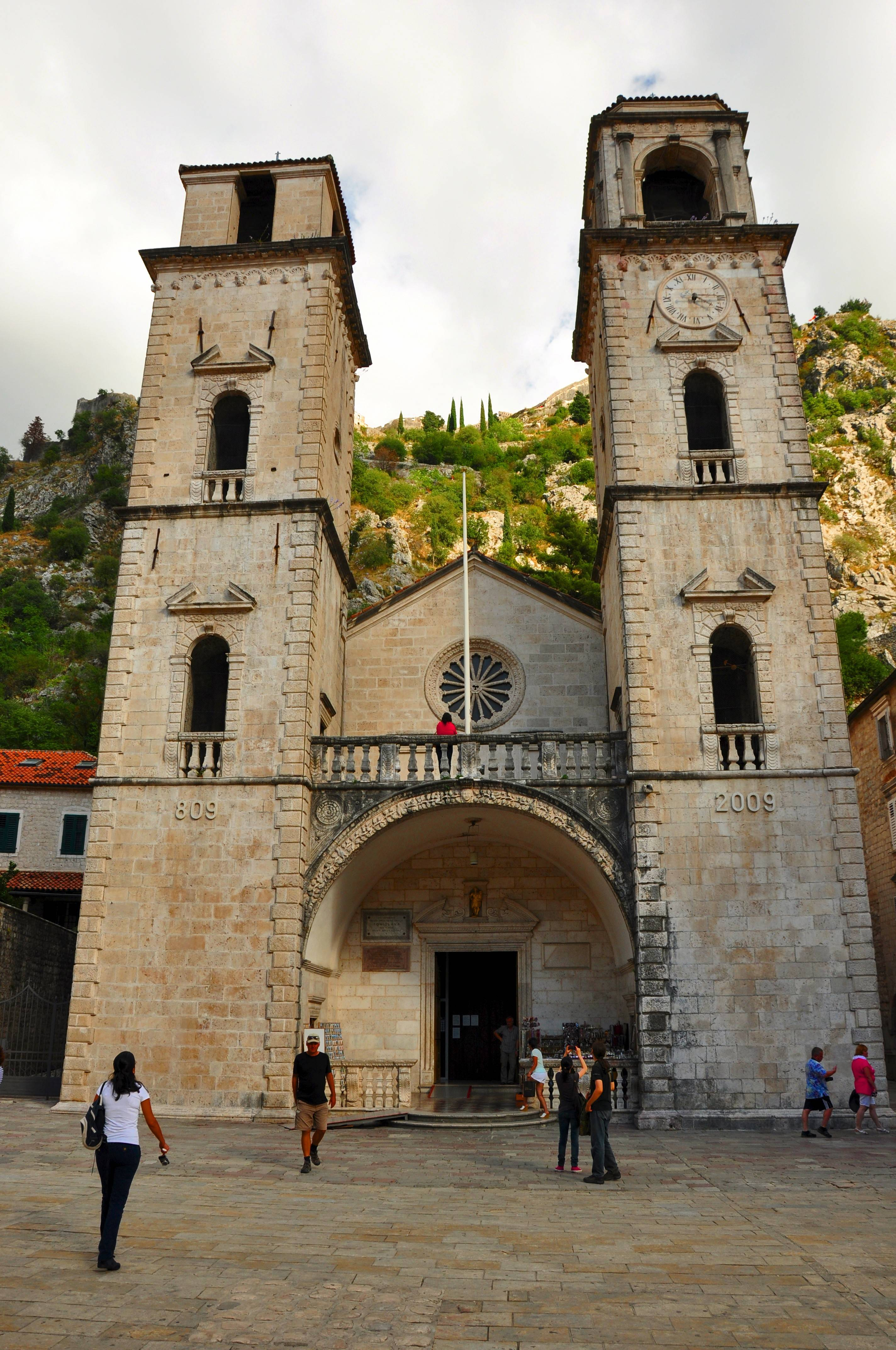 The Cathedral of St. Tryphon was built in the 12th century and holds the bones of the patron saint of Kotor, Montenegro.