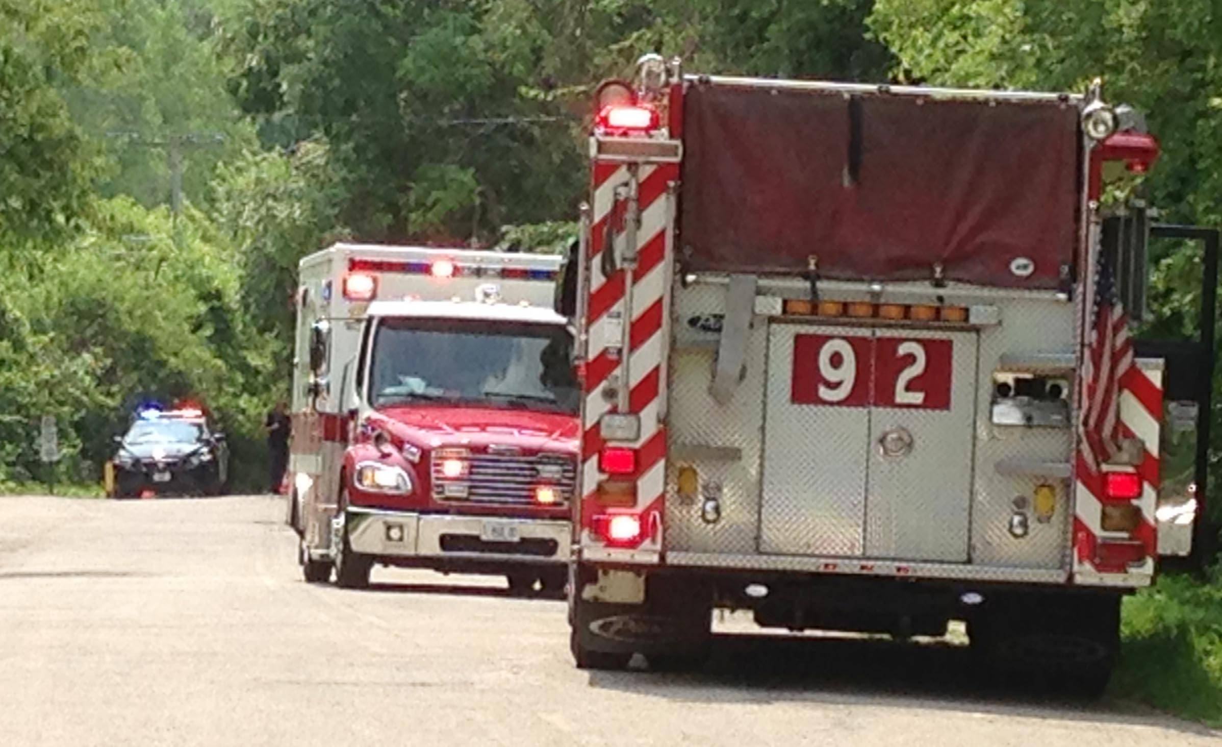 Carpentersville firefighters, dive teams and rescue personnel from several surrounding departments searched the Fox River for a man who disappeared in the water Sunday morning.