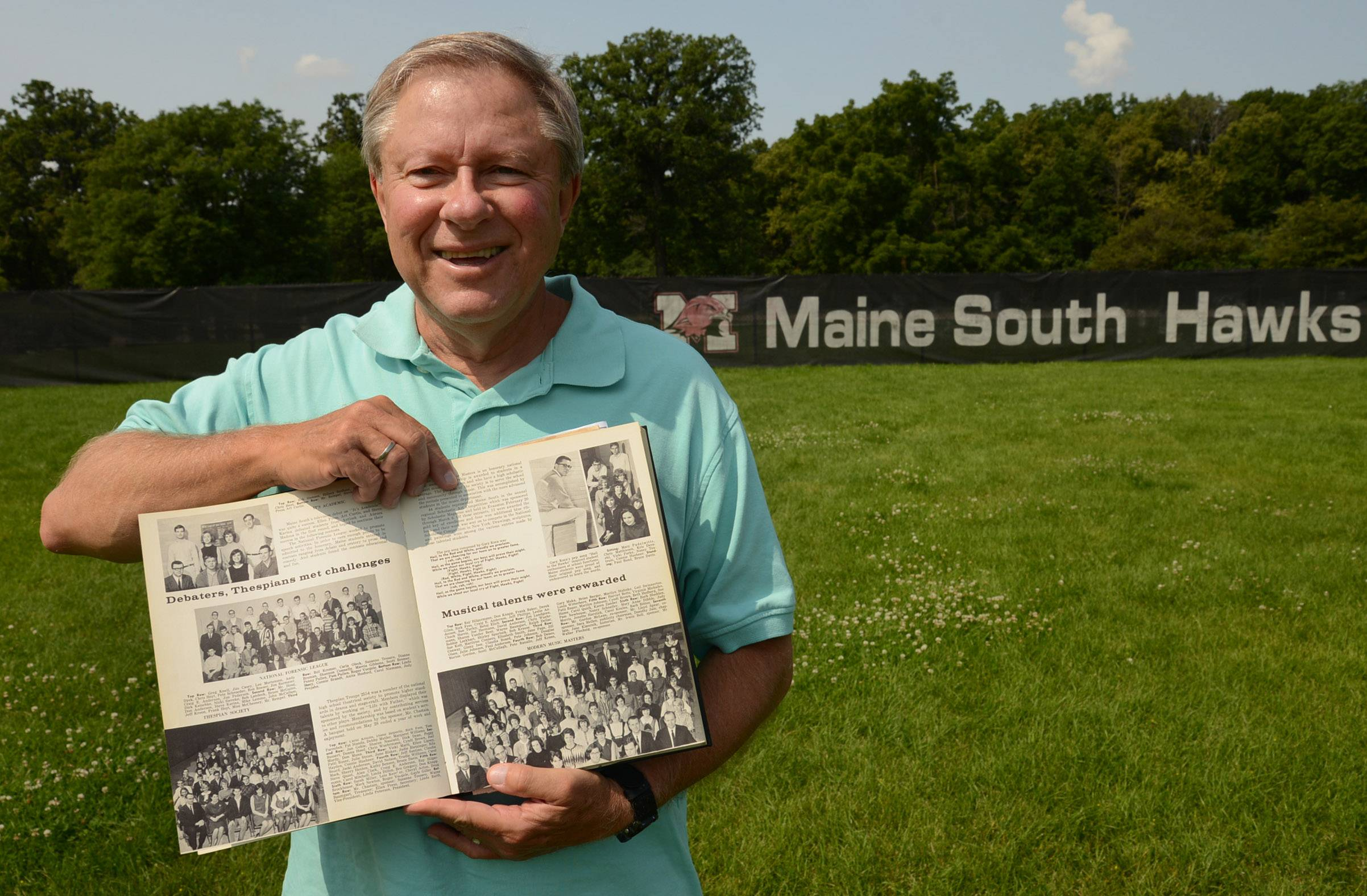 As a member of the first graduating class of Maine South High School, Gary Koca won a contest to write the school's first fight song. Fifty years later, Koca's song remains a staple at the school.