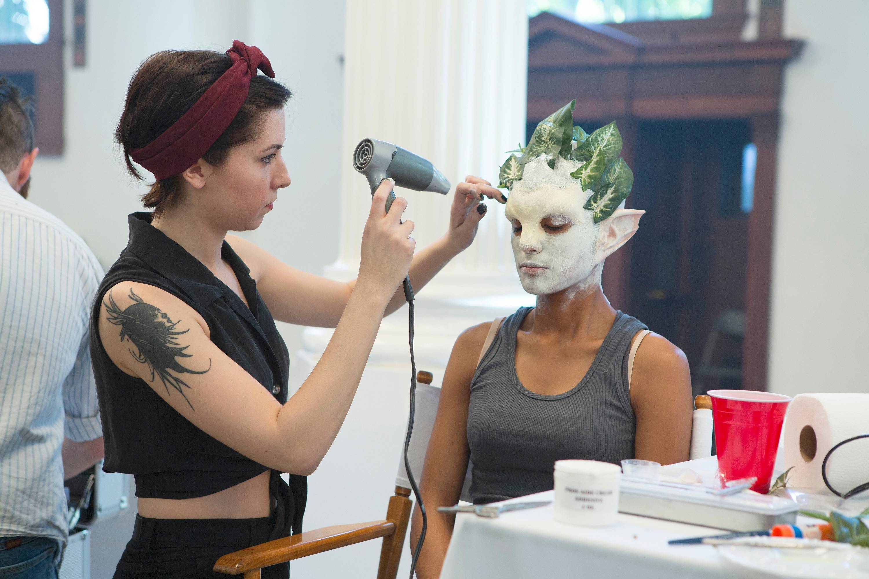 "Lake Zurich native Dina Cimarusti, left, is one of the makeup artists competing this season on Syfy's ""Face Off."""