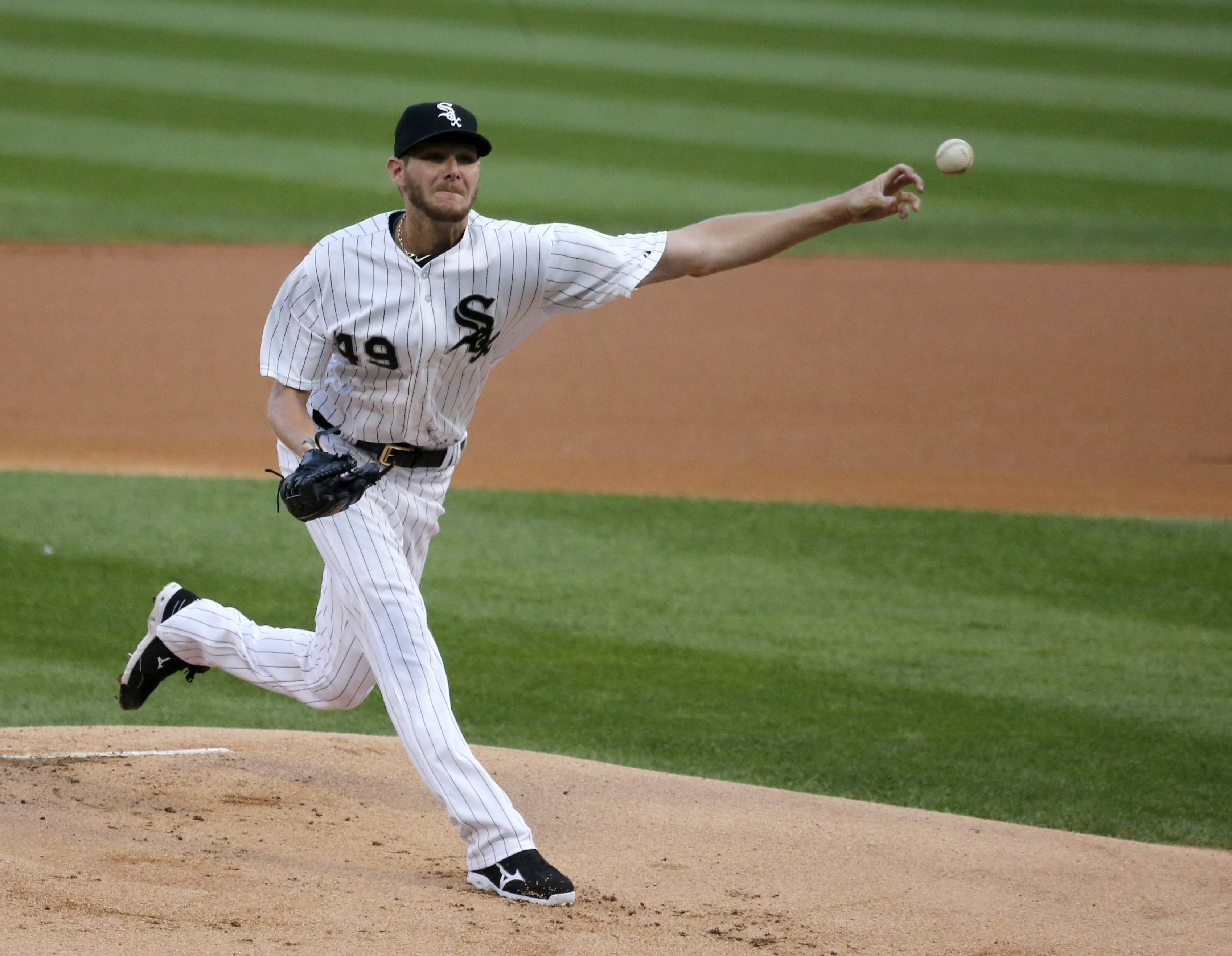 White Sox starting pitcher Chris Sale worked 7 innings Monday night and is now 9-1 with a 2.03 ERA after his victory over the Royals.