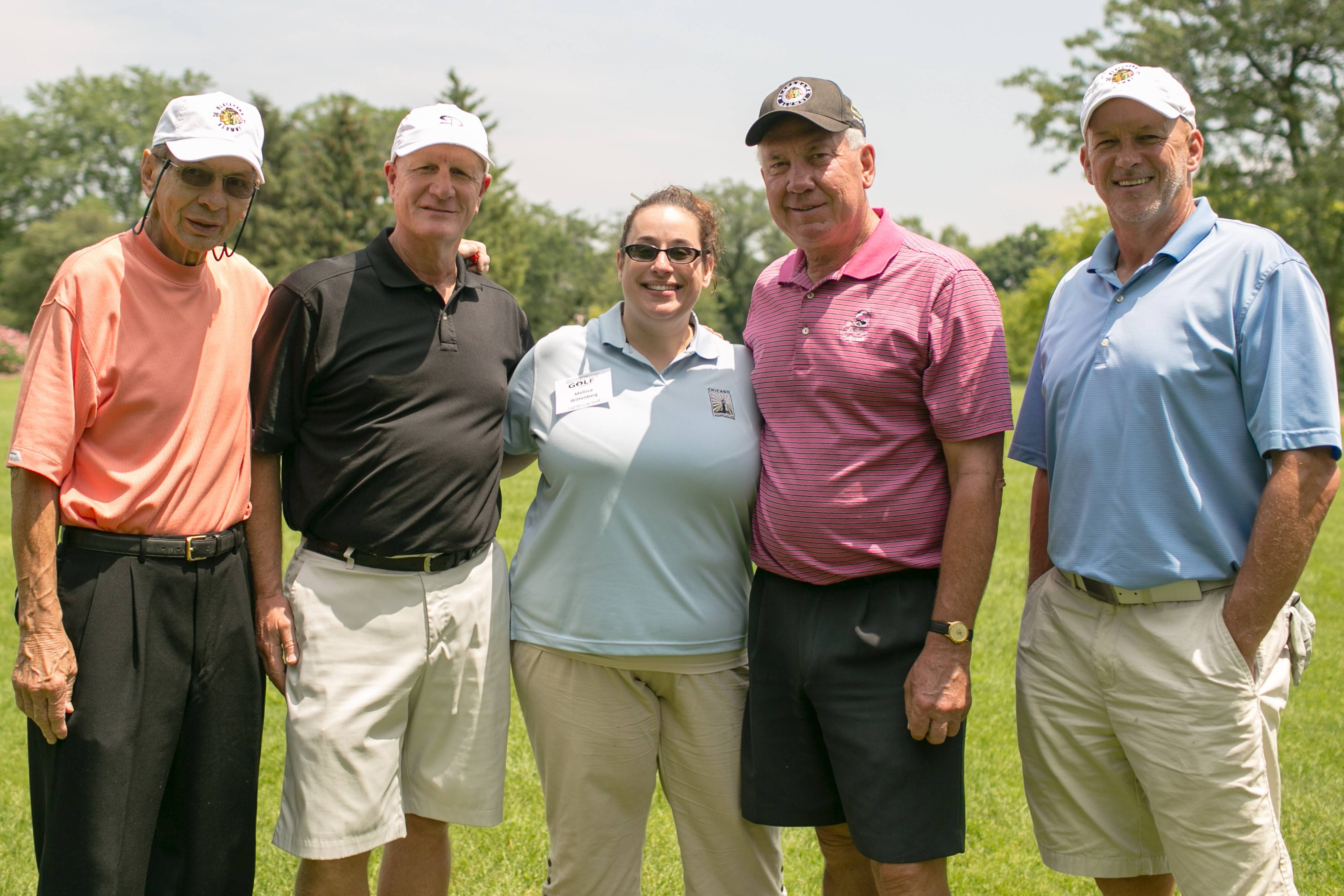 The Chicago Blackhawk Alumni Group at the second annual Chicago Lighthouse's second annual Mike Ditka Charity Golf Tournament.
