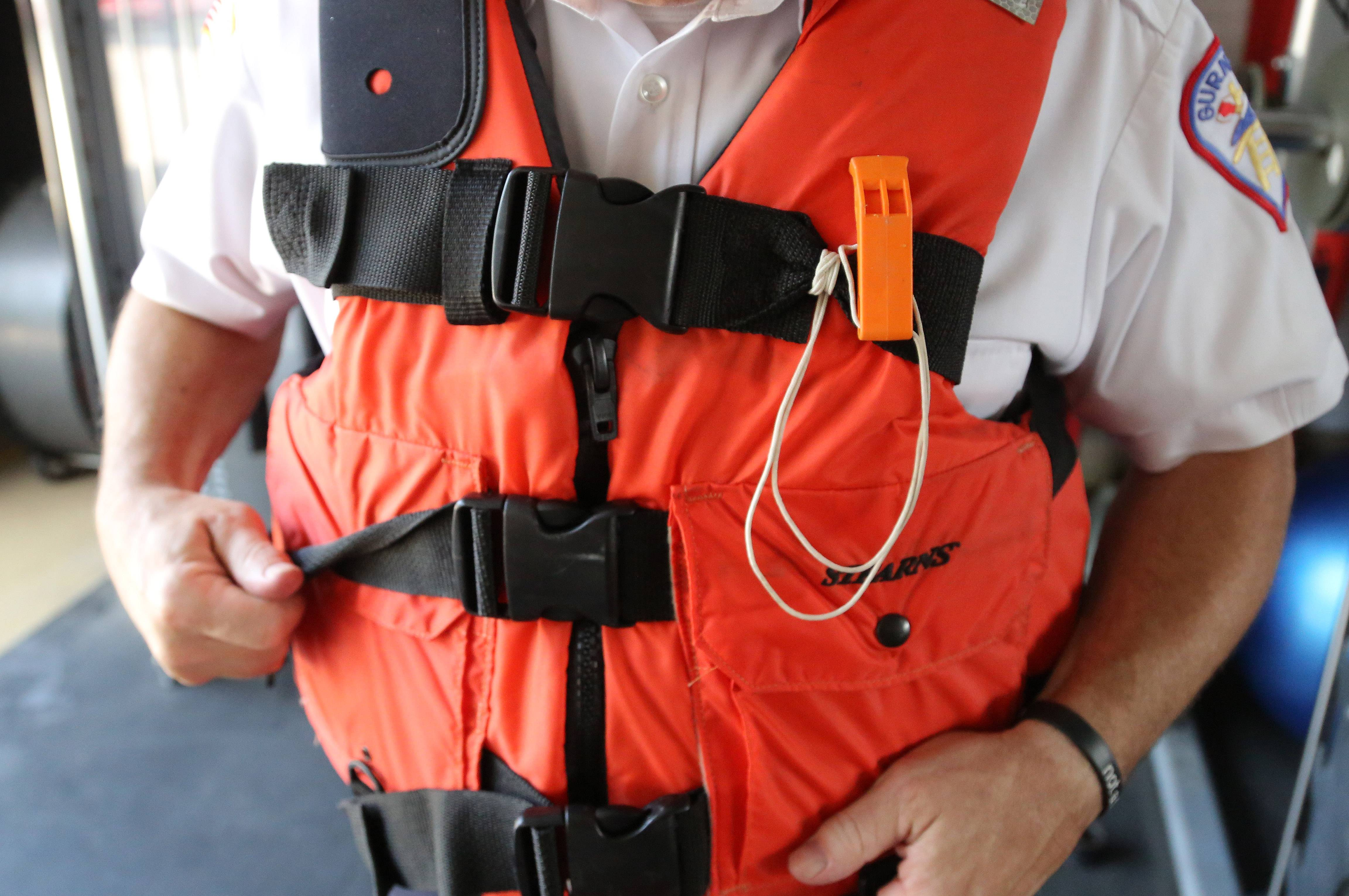 Experts: Wear flotation devices away from shore