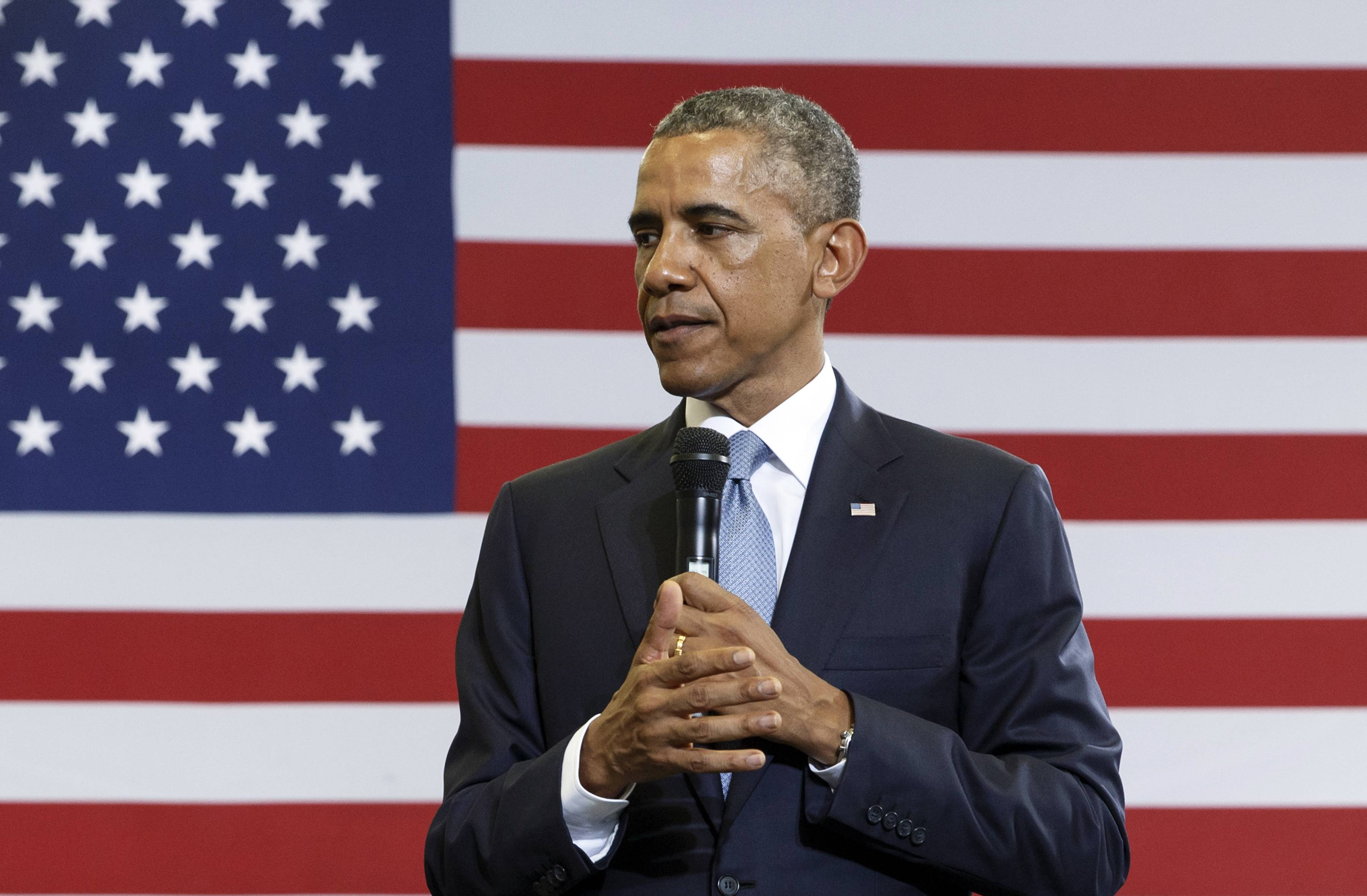 President Barack Obama speaks about the My Brother's Keeper initiative at the Walker Jones Education Campus in Washington Monday. Within hours of each other, two federal appeals courts issued contradictory rulings on a key financing issue of the health care law Tuesday.