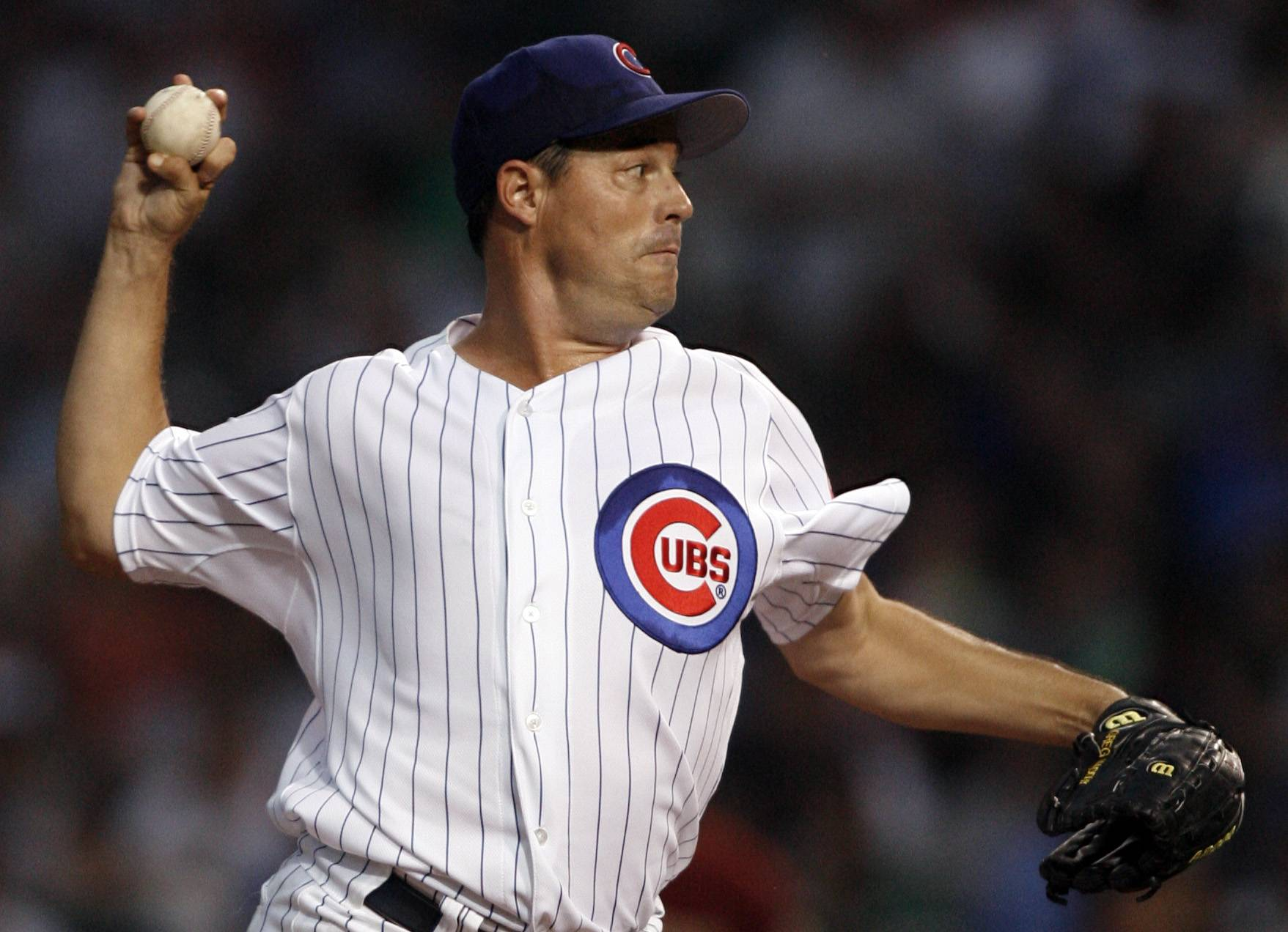 STEVE LUNDY PHOTO/slundy@dailyherald.com Greg Maddux says he can't remember ever giving a speech, so he's a bit apprehensive about Sunday's Hall of Fame induction ceremony.