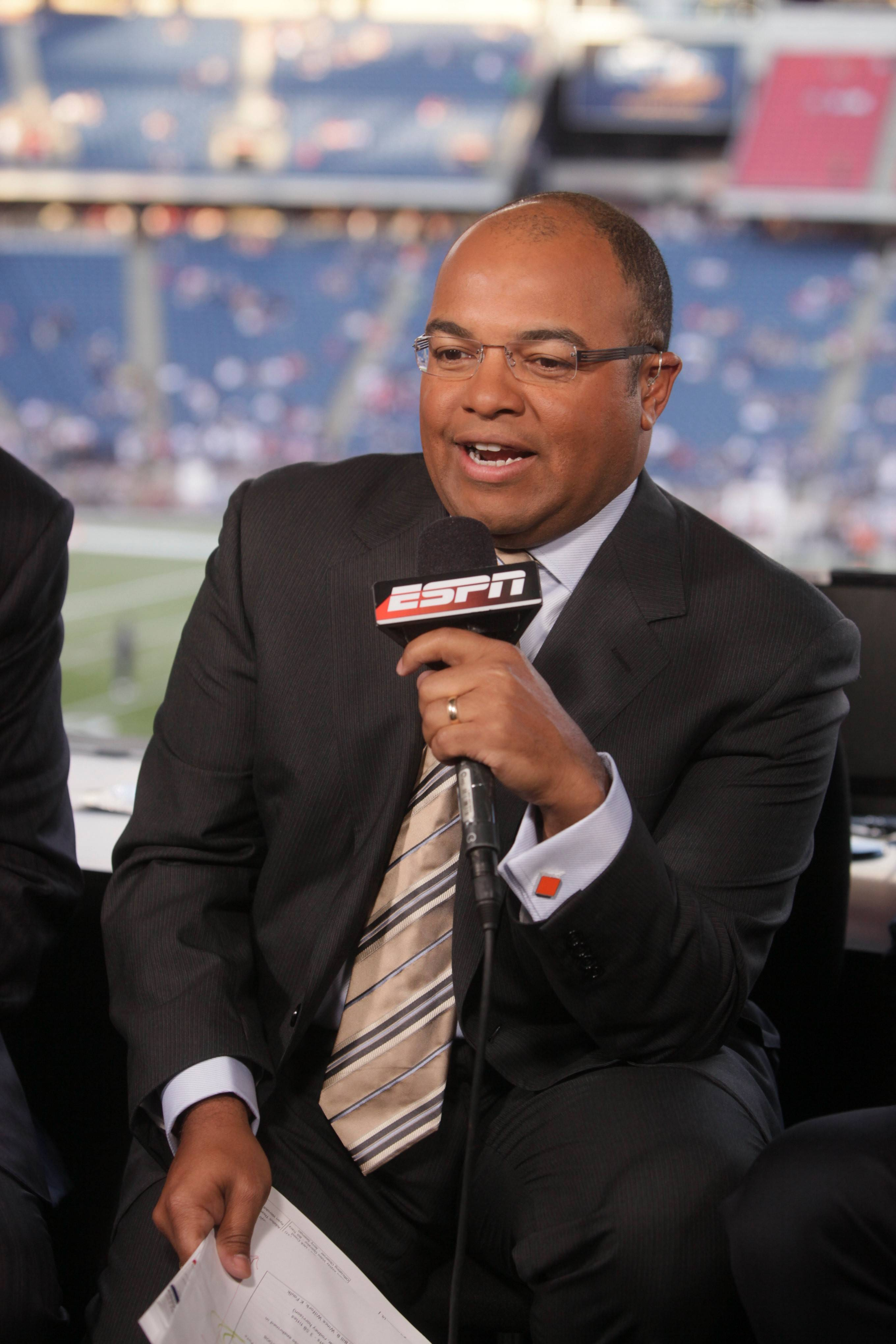 ESPN broadcaster Mike Tirico is well versed in a variety of sports as he anchors coverage for the NFL, World Cup soccer, and golf.