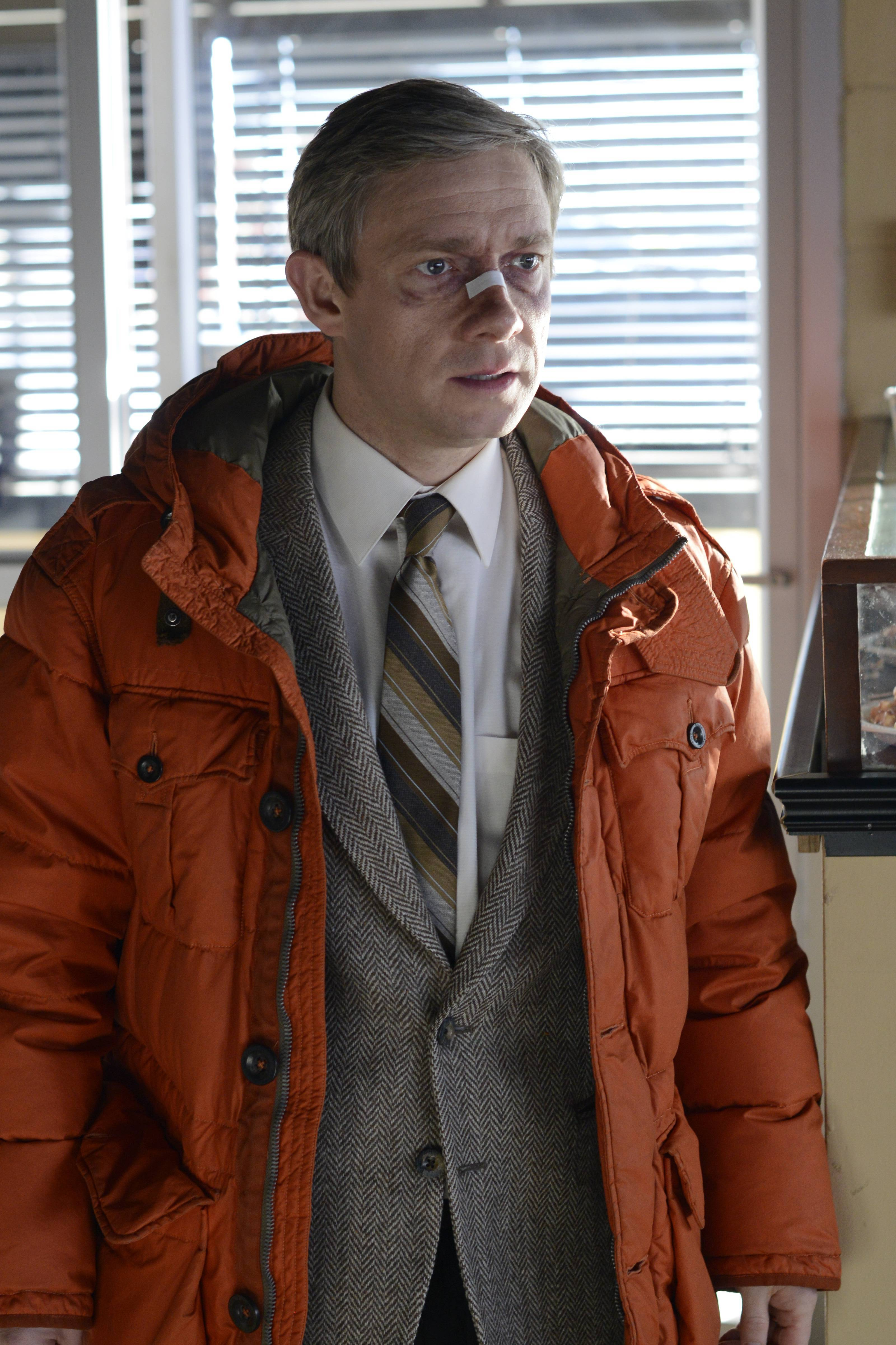 "Martin Freeman played Lester Nygaard in FX's ""Fargo."" The network announced Monday it has renewed the series for a second season with a new cast, time period and crime."