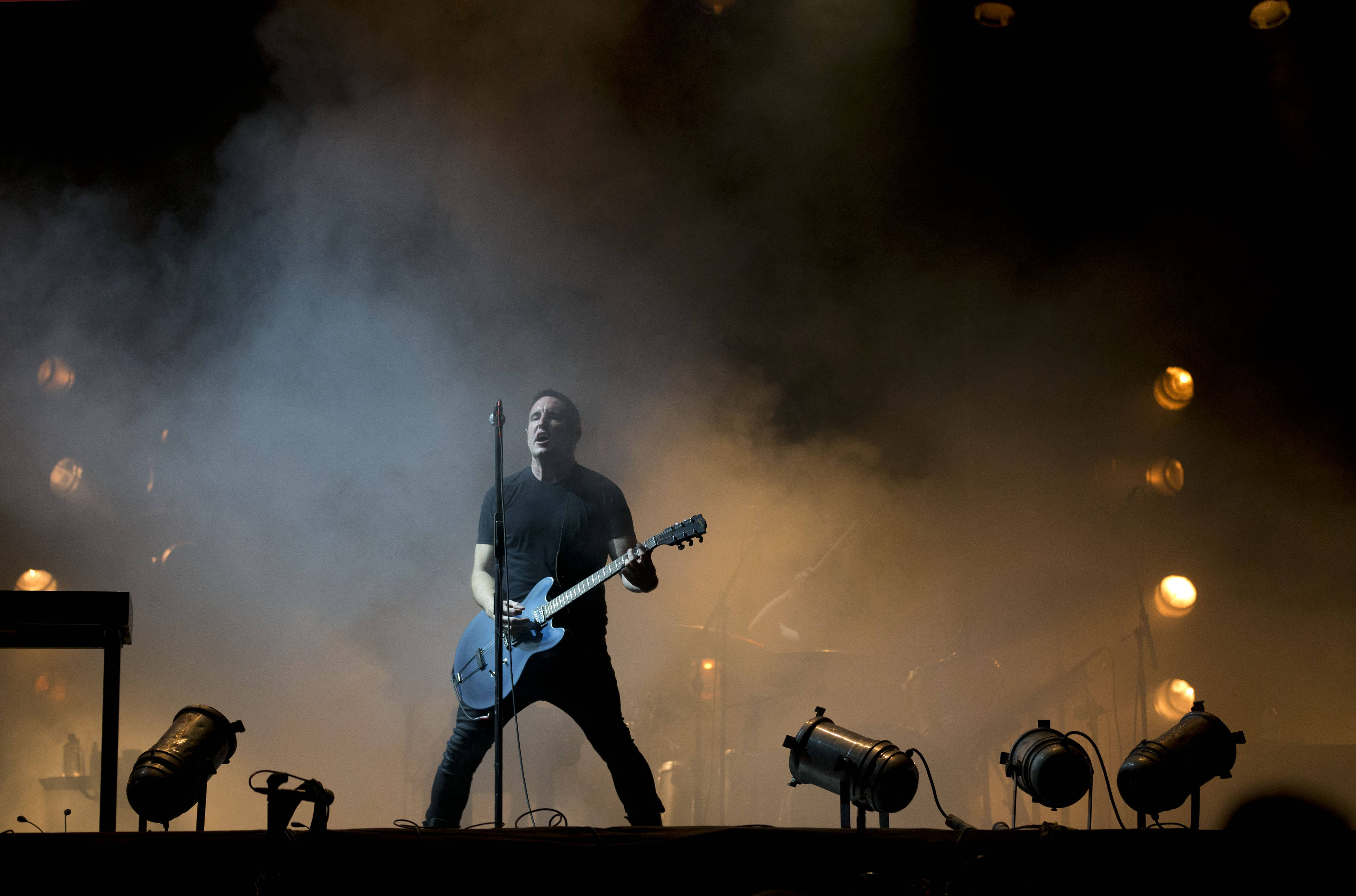 Trent Reznor and his band, Nine Inch Nails, shown here performing at the Vive Latino music festival in Mexico City, Mexico, in March, are currently on a North America tour co-headlining with Soundgarden. The tour comes to the First Midwest Bank Amphitheatre in Tinley Park on Thursday, July 24.