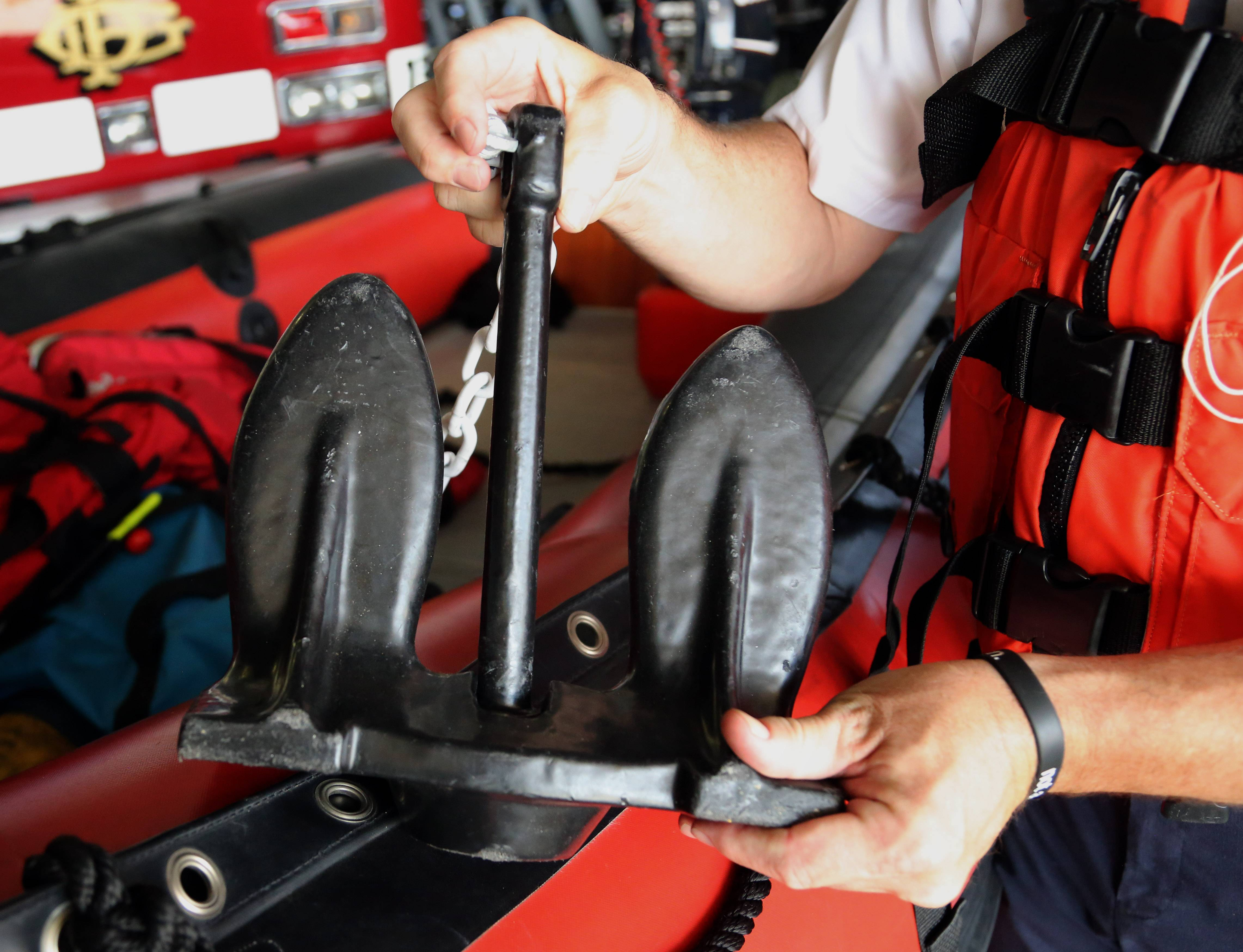 An anchor is an important device for any boater, especially when swimming off the boat, said John Skillman, the head of the dive team for Lake and McHenry Counties Specialized Response Teams.