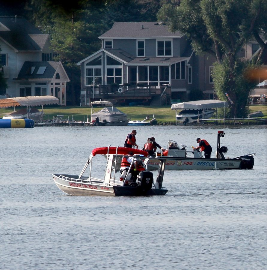 Divers searched Third Lake Monday afternoon for the body of Matt Reed, a student at Grayslake Central High School. The 16-year-old drowned, an autopsy showed.