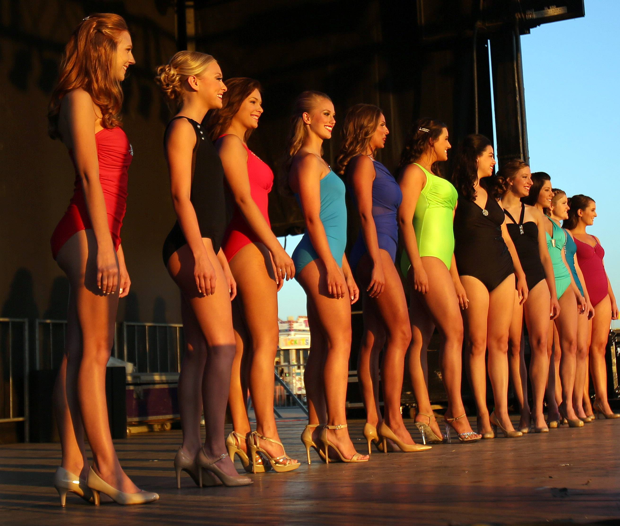 Miss Lake County Fair contestants compete during the Lake County Fair Wednesday in Grayslake.