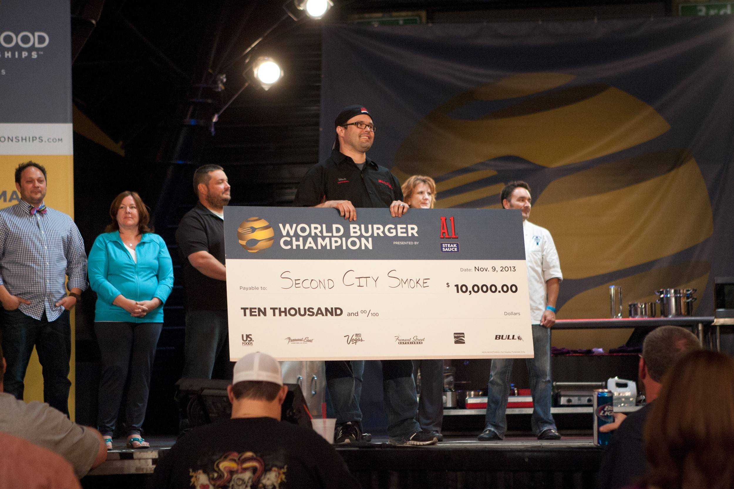 Wade Fortin of downstate Illinois won $10,000 in the burger category at the 2013 World Food Championships in Las Vegas.