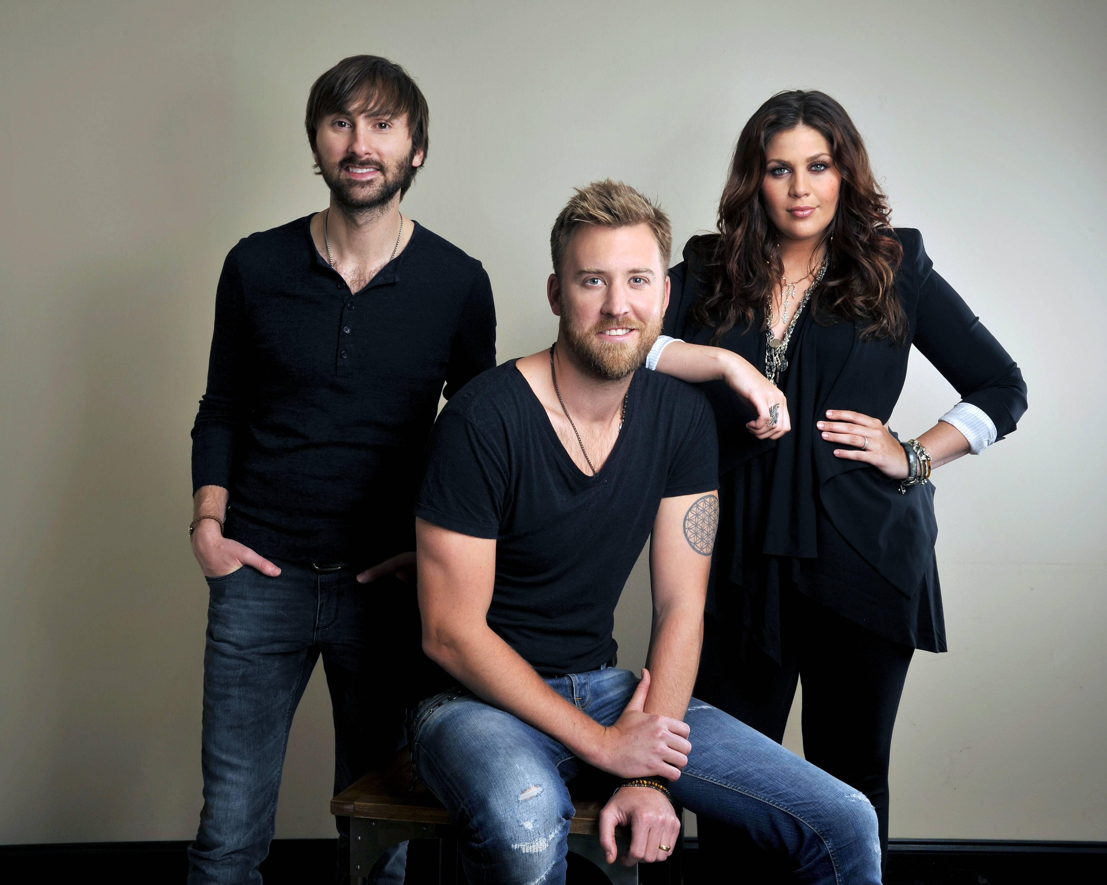 Lady Antebellum -- featuring Dave Haywood, left, Charles Kelley and Hillary Scott -- will play RiverEdge Park in Aurora on Thursday, Aug. 7.