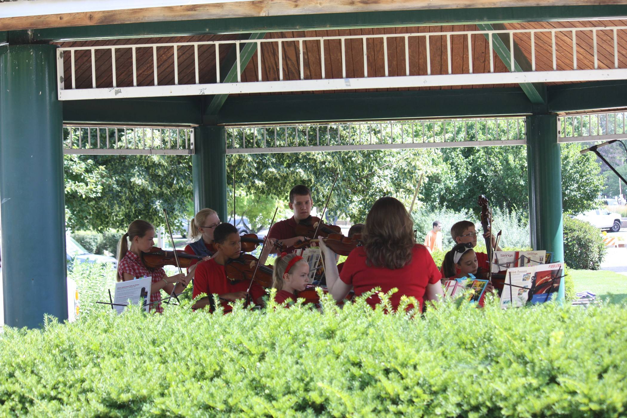 String music will be among the entertainment Saturday during Arts in the Park at Towne Square in downtown Palatine. The free event from 10 a.m. to 2 p.m. celebrates the arts through live entertainment and art projects for children of all ages.
