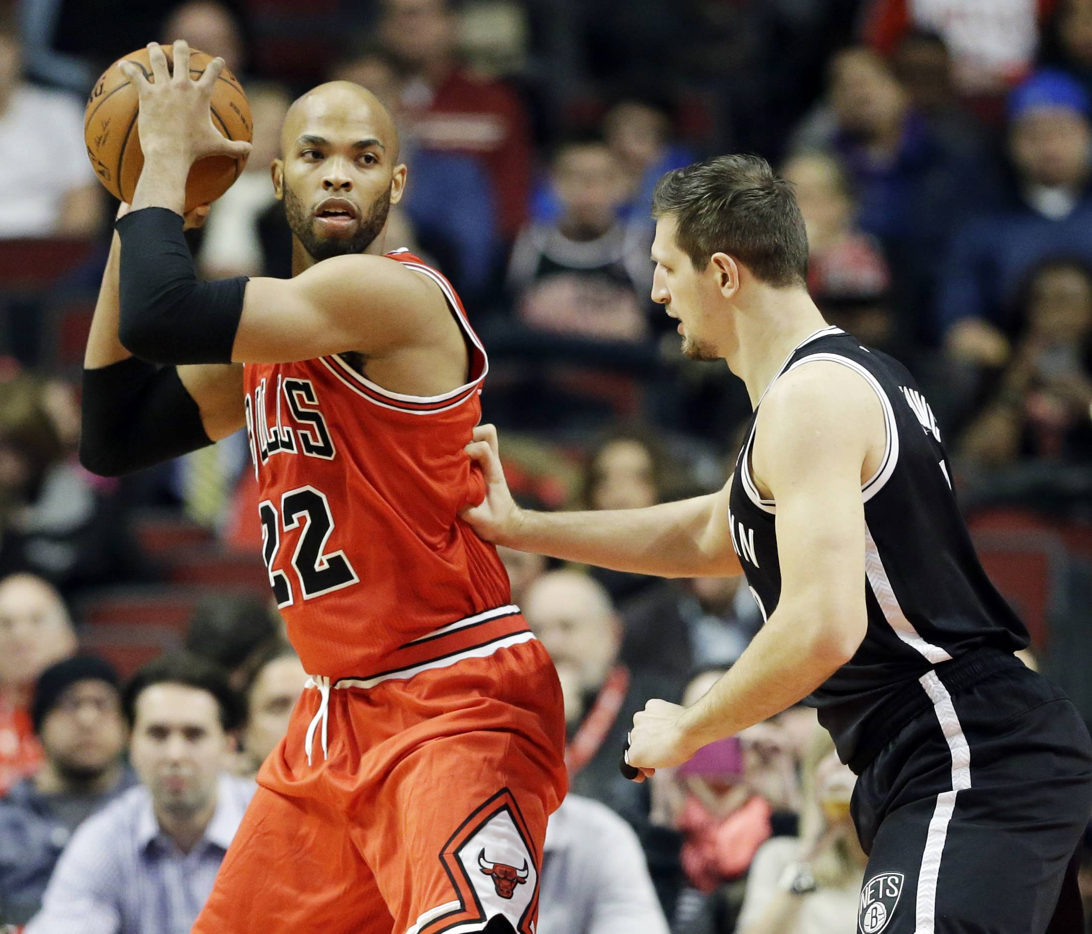 Bulls forward Taj Gibson said the addition of power forward Pau Gasol will give the team more depth.