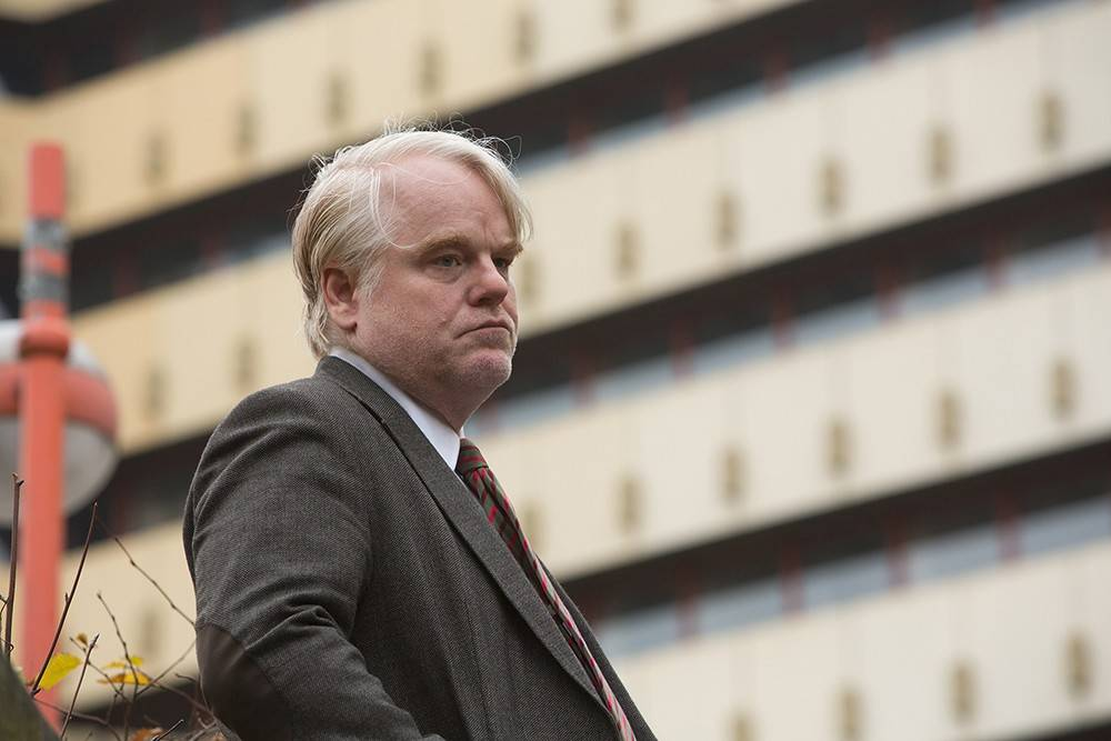 "A hard-drinking German spy (the late Philip Seymour Hoffman) seeks redemption in ""A Most Wanted Man,"" based on a 2008 novel by John le Carre."