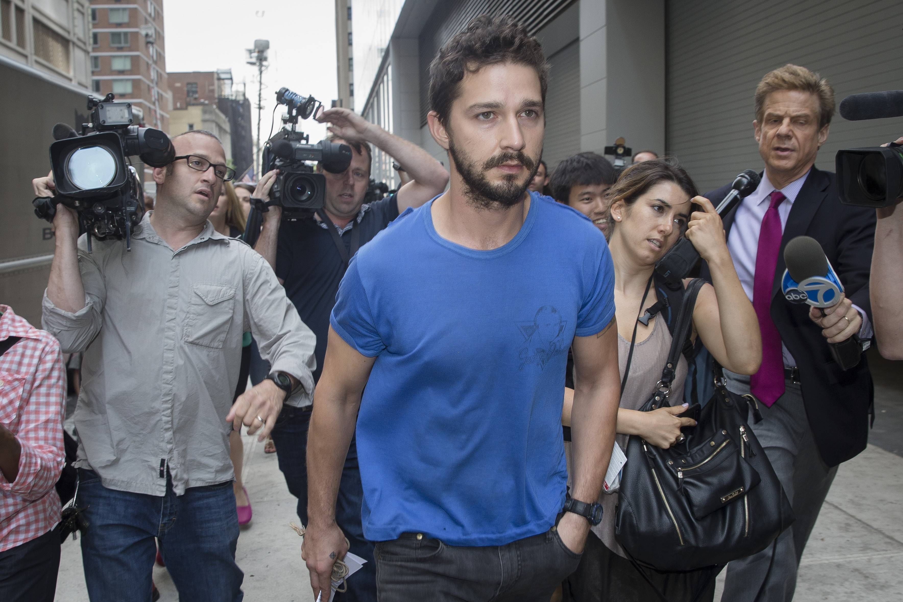 Shia LaBeouf and Alec Baldwin never ended up sharing a Broadway stage as planned last year, but real-life dramatics landed both of them in a distinctly less celebrated venue on Thursday: Manhattan courts.