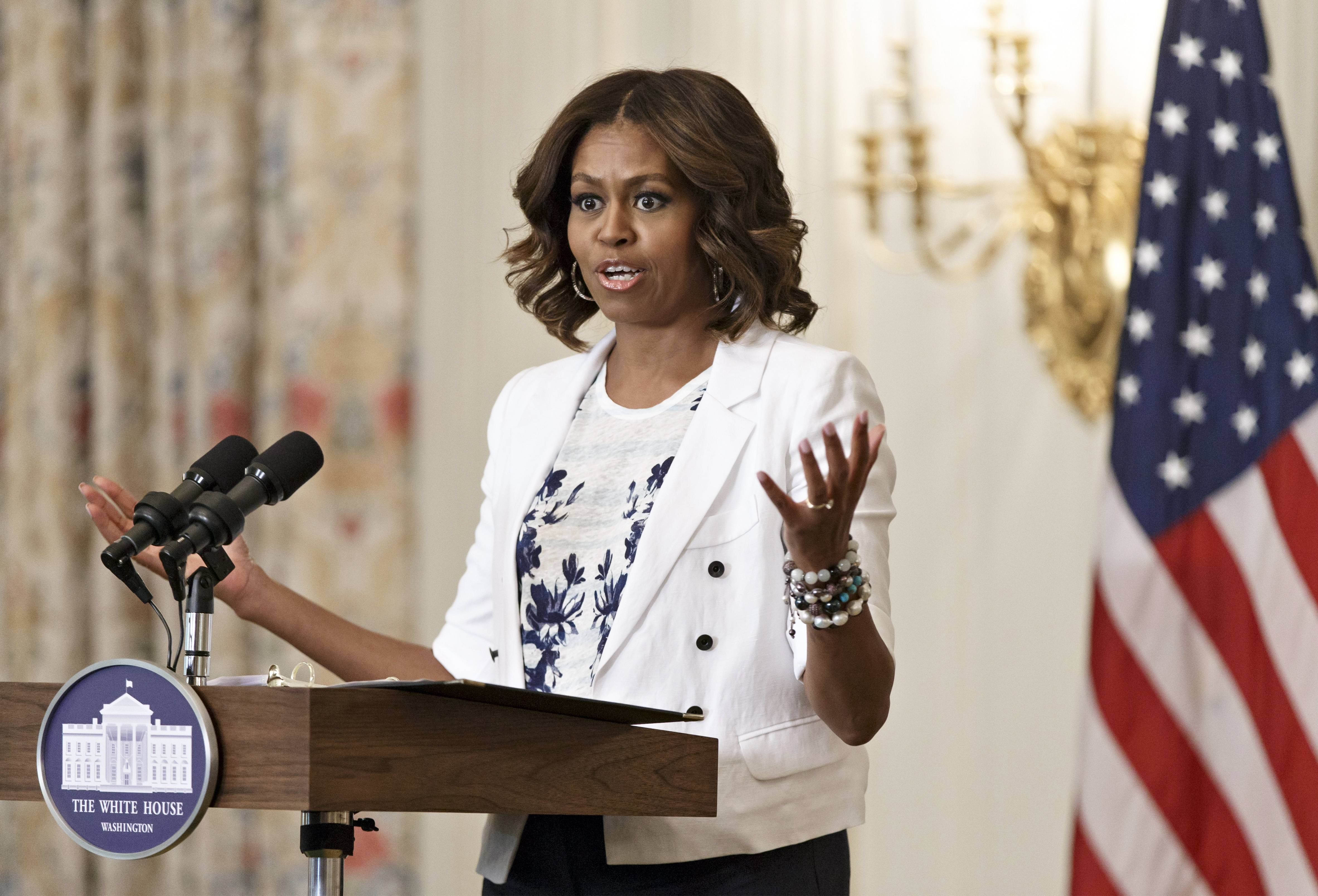 First lady Michelle Obama, shown at the White House on Tuesday, attended a Democratic National Committee fundraiser Thursday in Chicago.