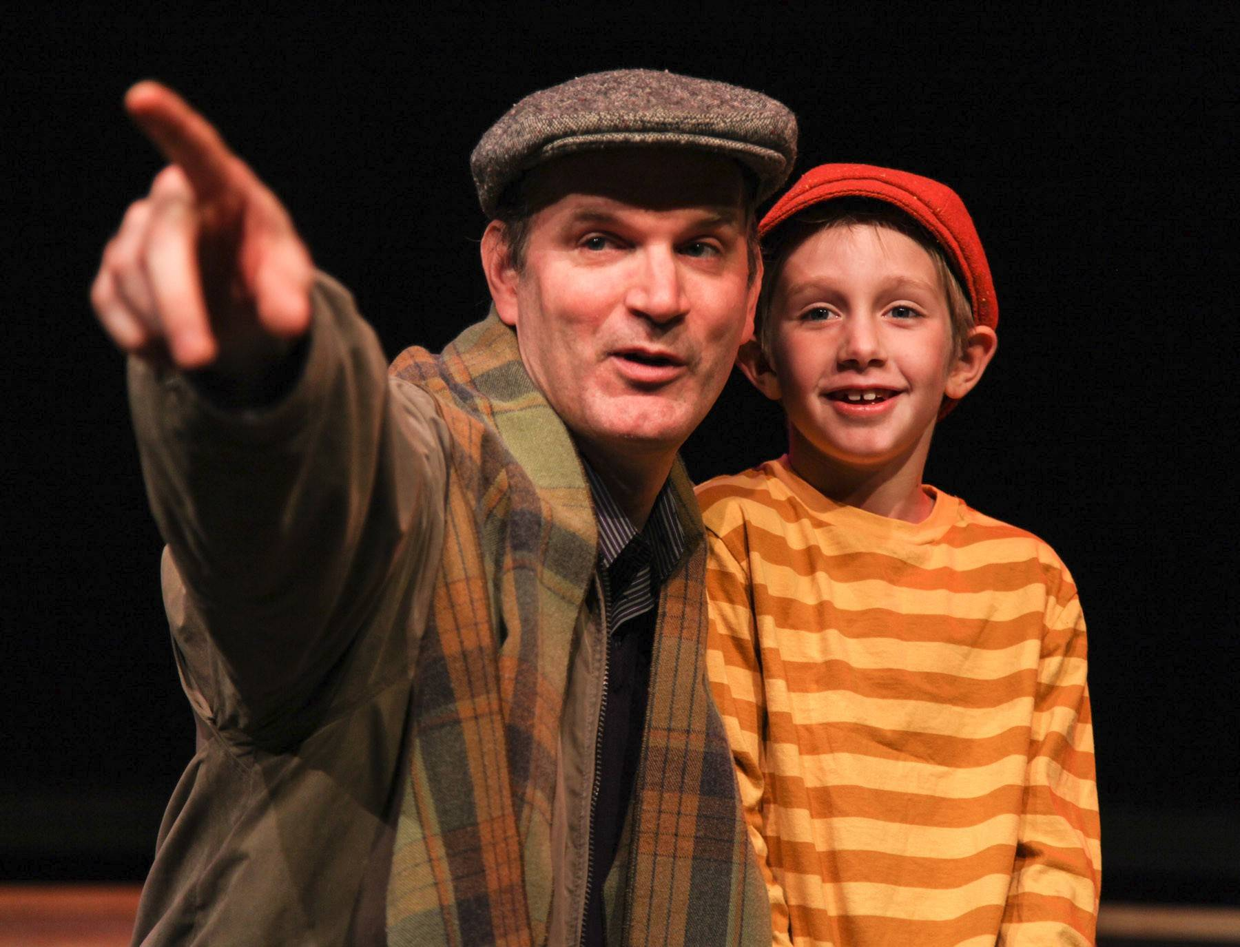 "Edward J. MacLennan stars as Edward Bloom and Landon Barnickel�as young Will in Jedlicka Performing Arts Center's production of ""Big Fish."""