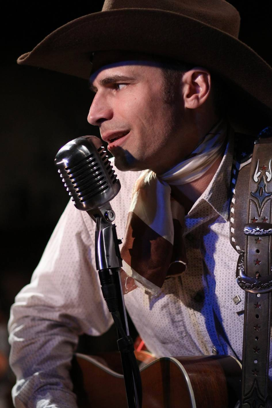 "Matthew Brumlow stars as the title singer in American Blues Theater's remount of ""Hank Williams -- Lost Highway,"" which starts previews Friday, July 25, at Greenhouse Theater Center."
