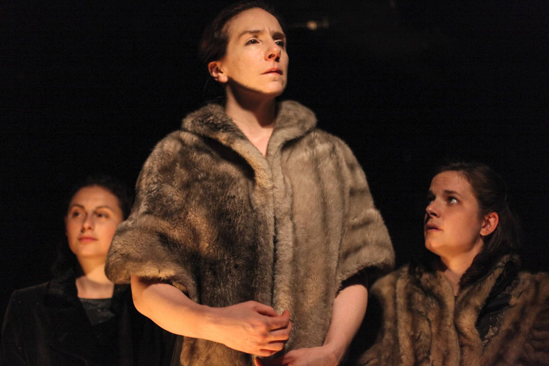 "Lauren Guglielmello, left, Kathrynne Wolf and Molly Fisher star in Mary-Arrchie's Theatre Co.'s production of ""Hellish Half-Light: Shorter Plays of Samuel Beckett,"" directed by Jennifer Markowitz."