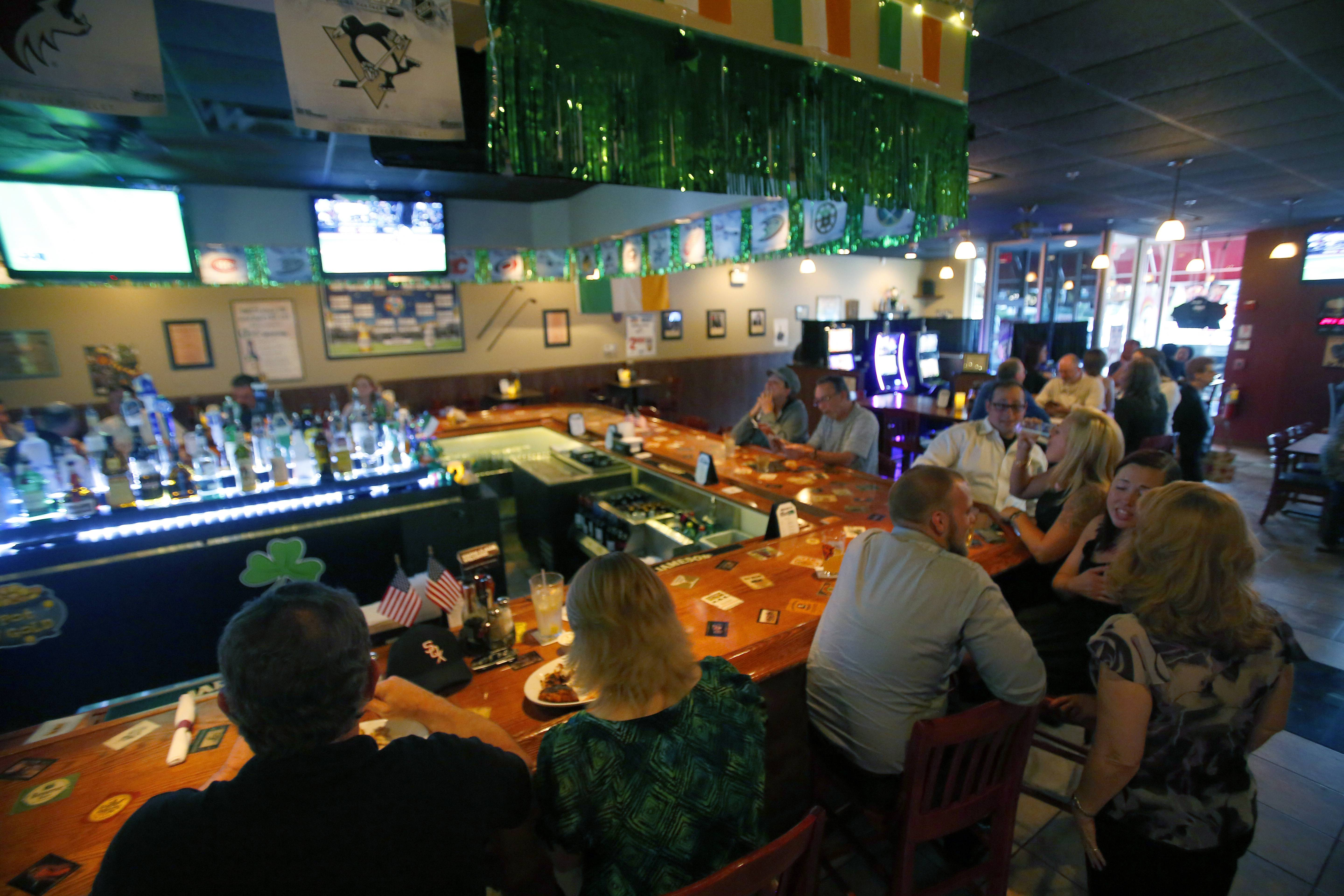 O'Hare's Pub draws on Irish influences as well as a sports bar feel.