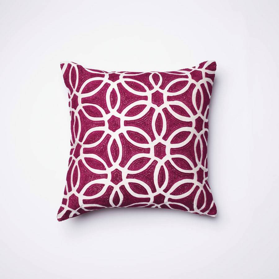 Pillows in bold colors bold colors and exotic patterns are on-trend.