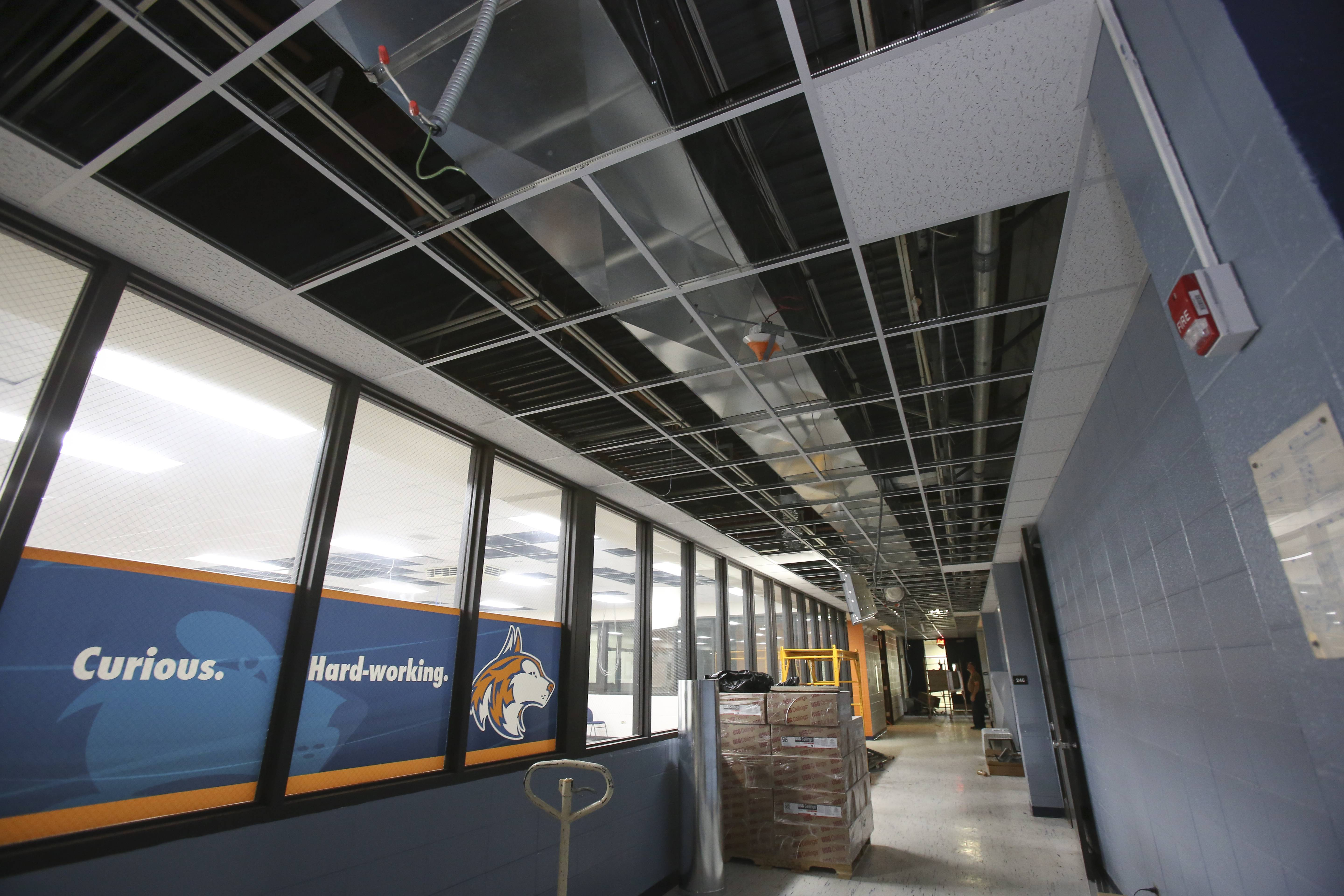 New duct work is one of the changes that is part of ongoing construction at Naperville North High School.