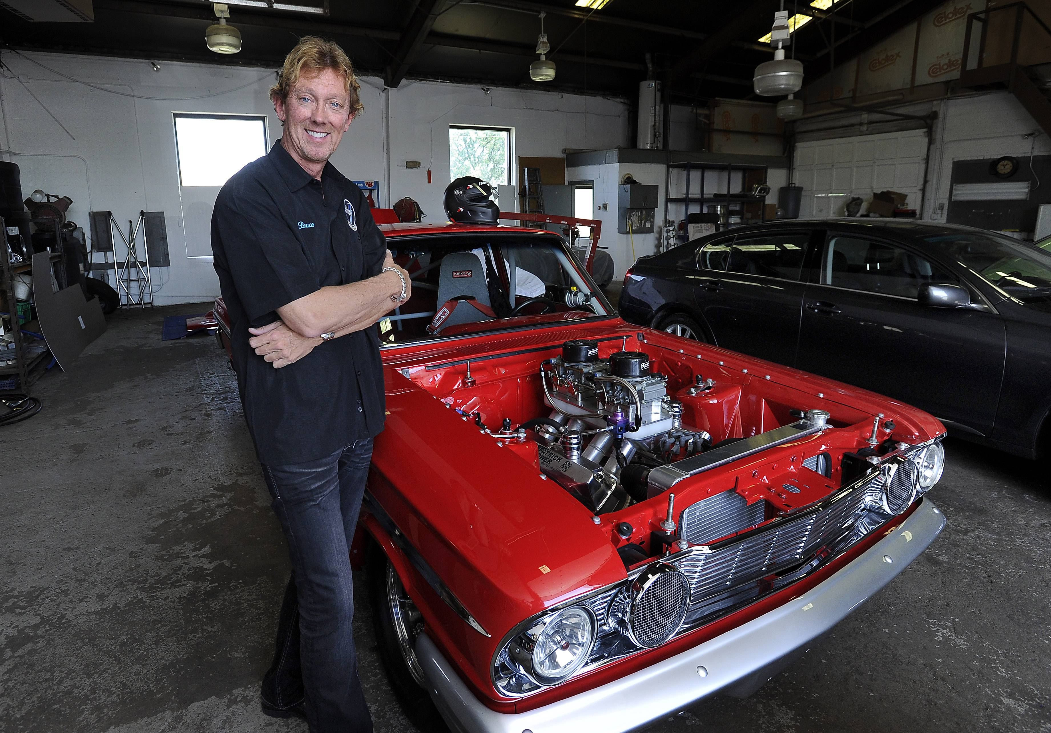 Bruce Jones and his 1964 Ford Thunderbolt Fairlane, one of only 100 built as a dual-purpose show car and racer.