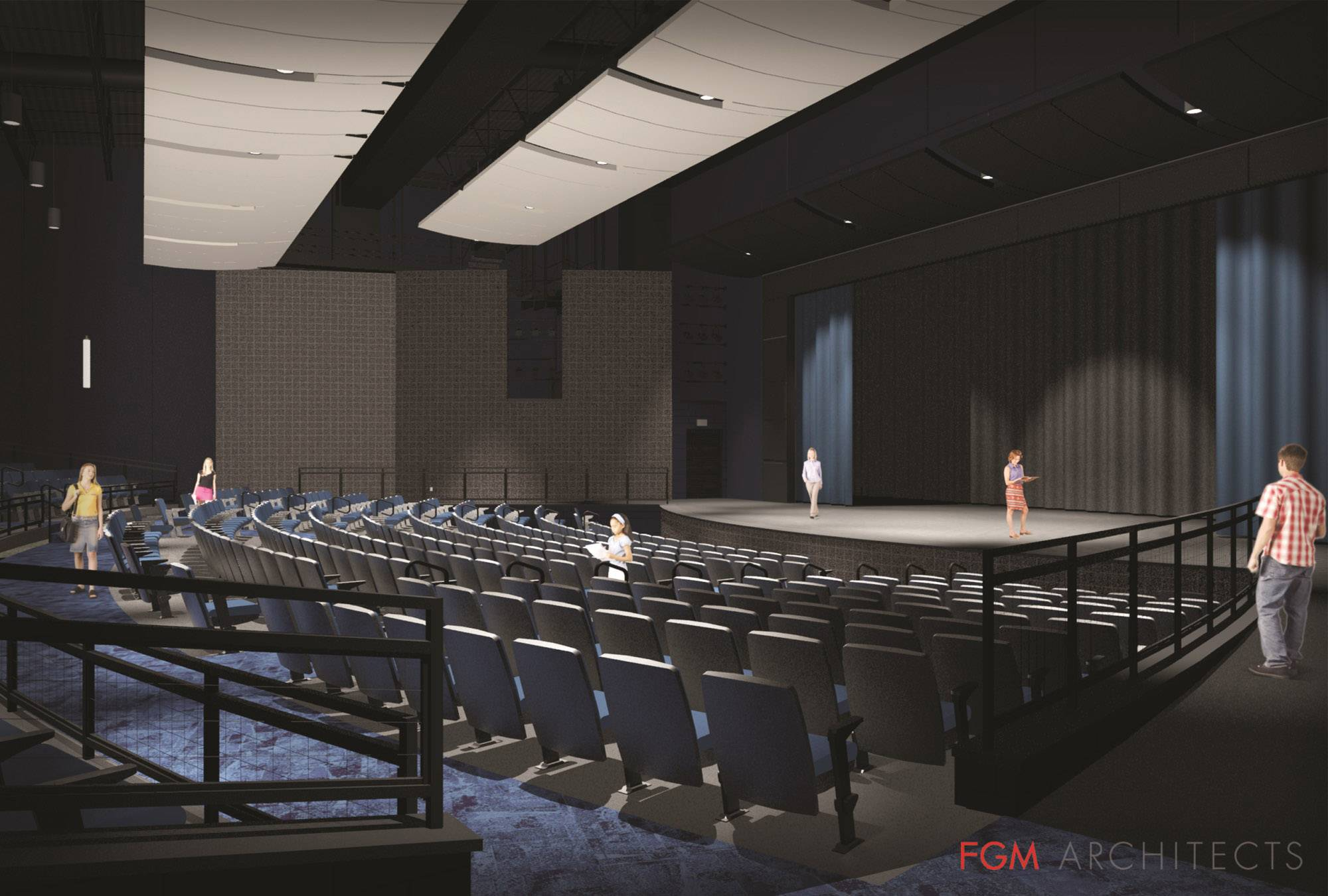 Cary-Grove High School's 50-year-old theater, main entrance, and lobby restrooms will be overhauled and improved. Part of this yearlong project involves reconfiguring the main entrance to provide enhanced safety and security during school days.