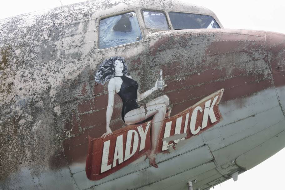 I saw this DC 3 on an airstrip in Ottawa Il. It's in pretty bad shape, never to fly again. I looked up it's tail numbers on my smartphone. It started it's life in 1940 at Delta. If only airplanes could talk.