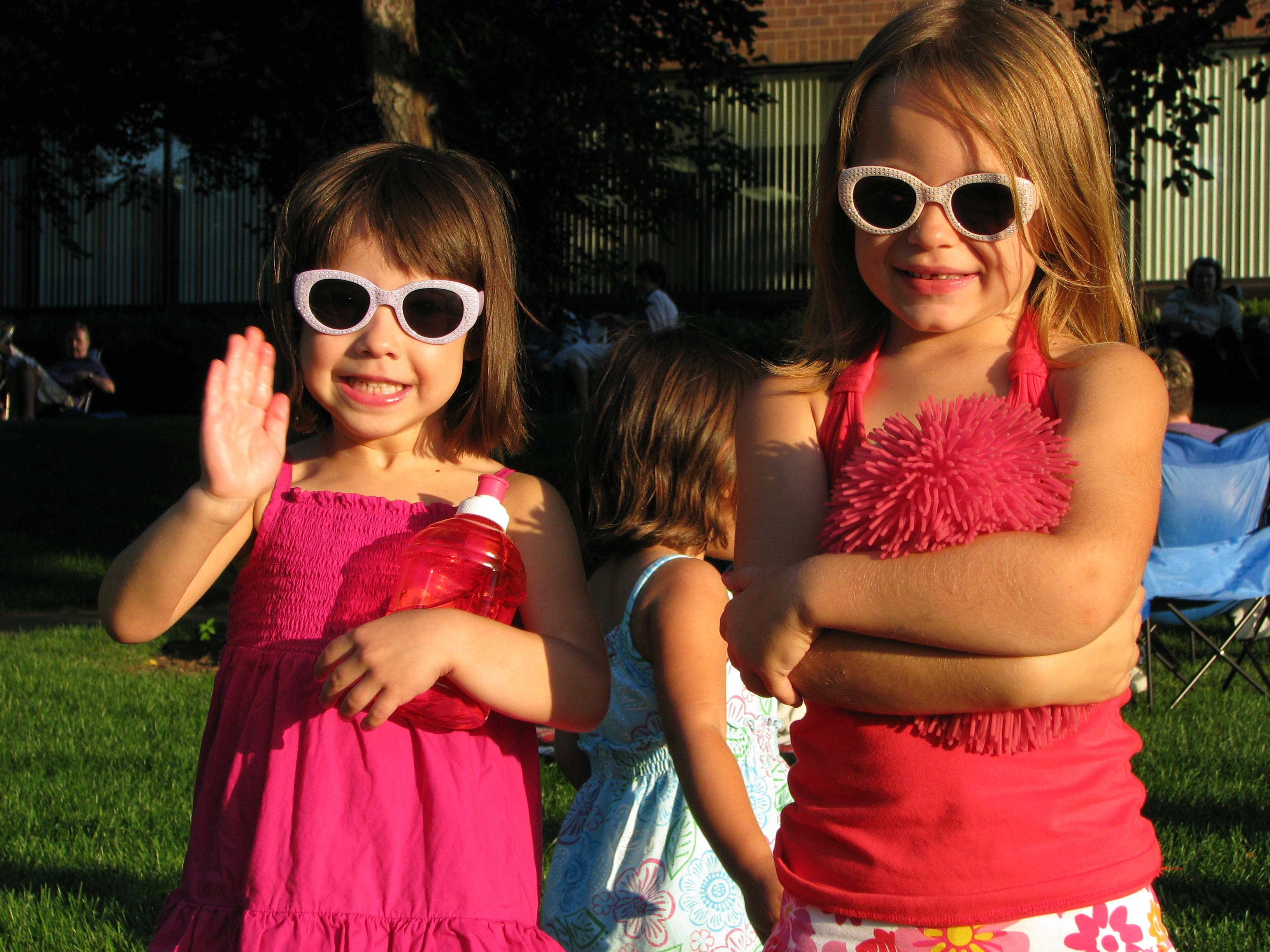 Two little girls enjoying the concert.Schaumburg Park District