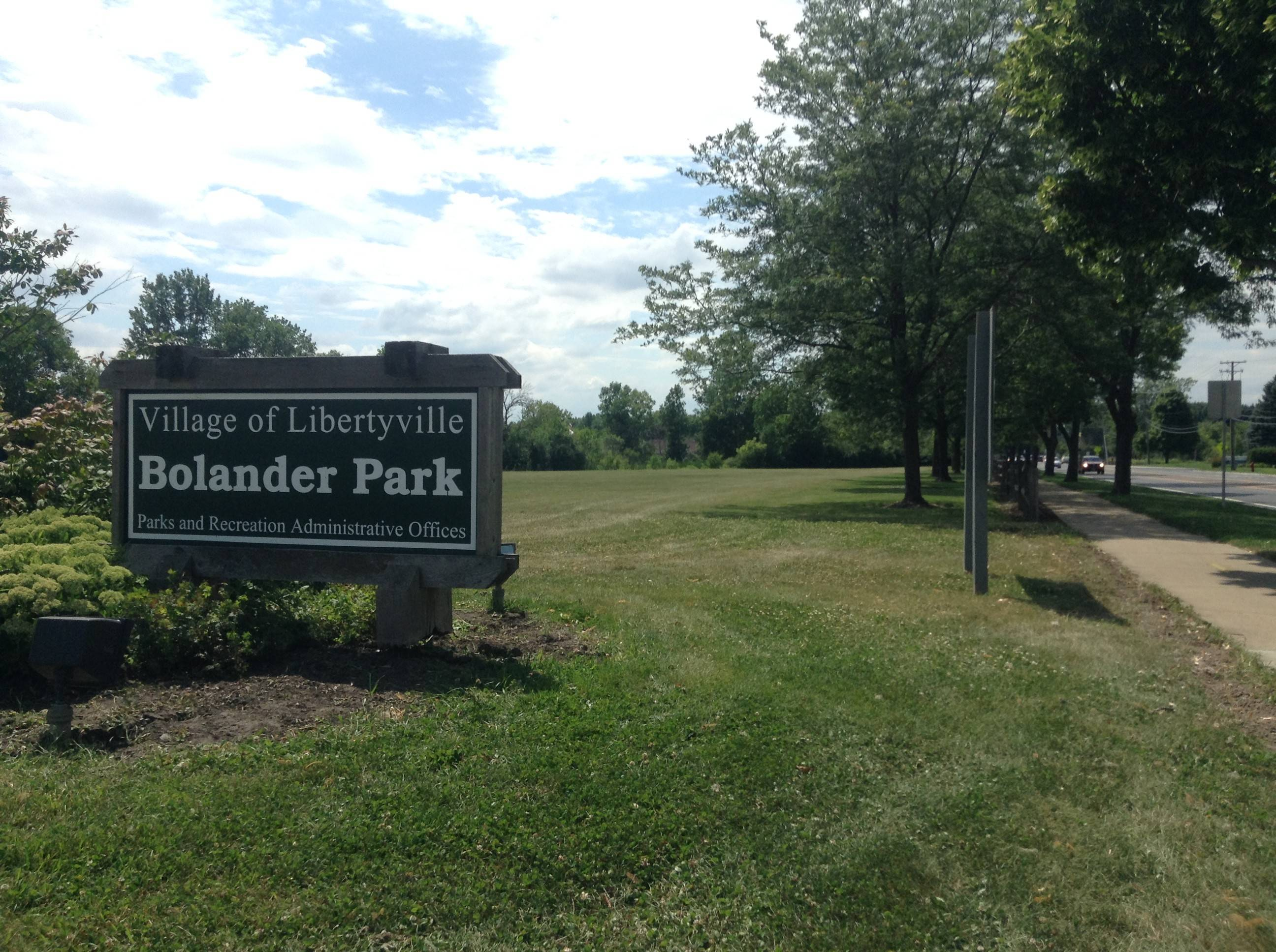 A townhouse development has been proposed to replace Bolander Park in Libertyville