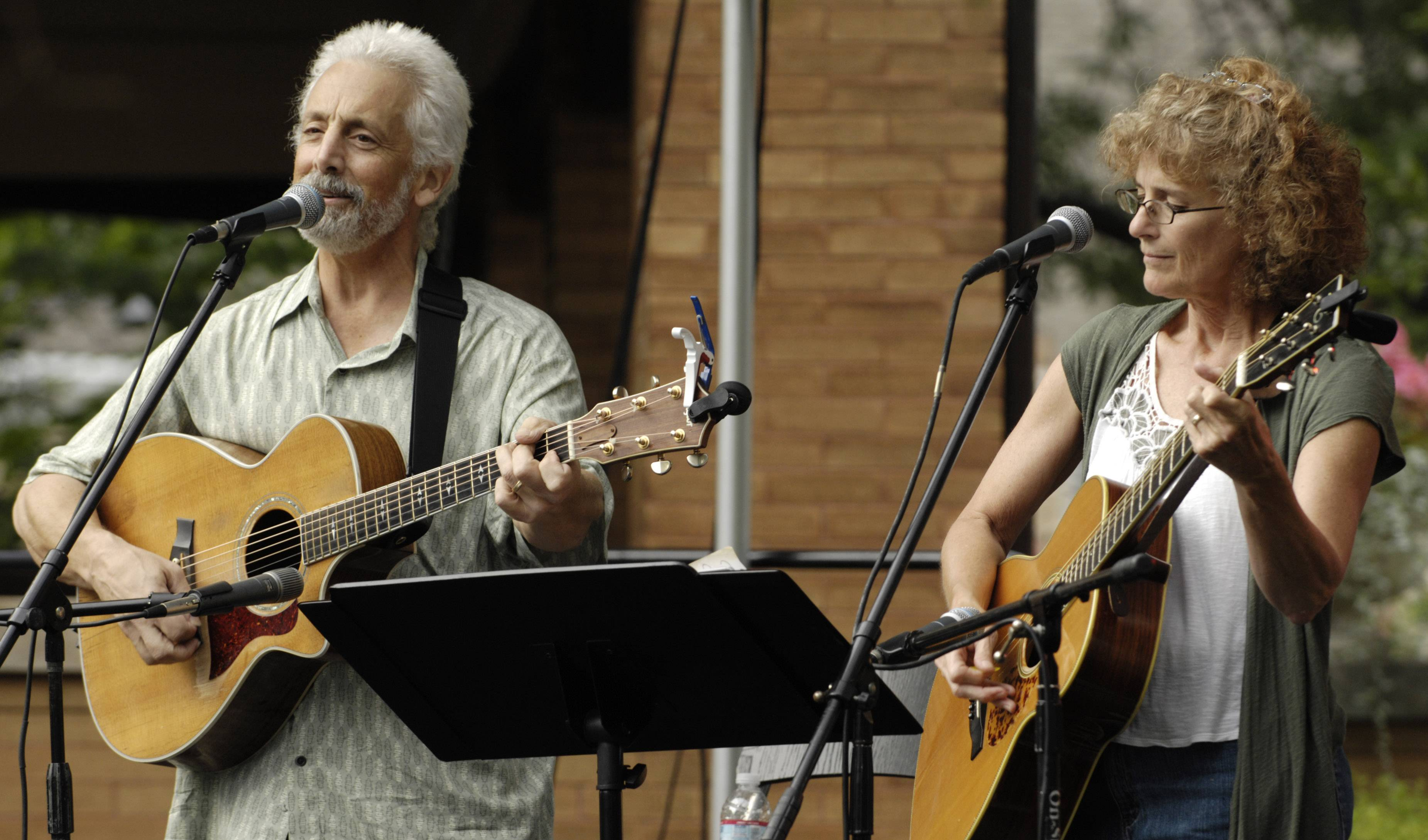 Rich Prezioso and Jacquie Manning of Small Potatoes perform Friday during Irish Fest in Arlington Heights.