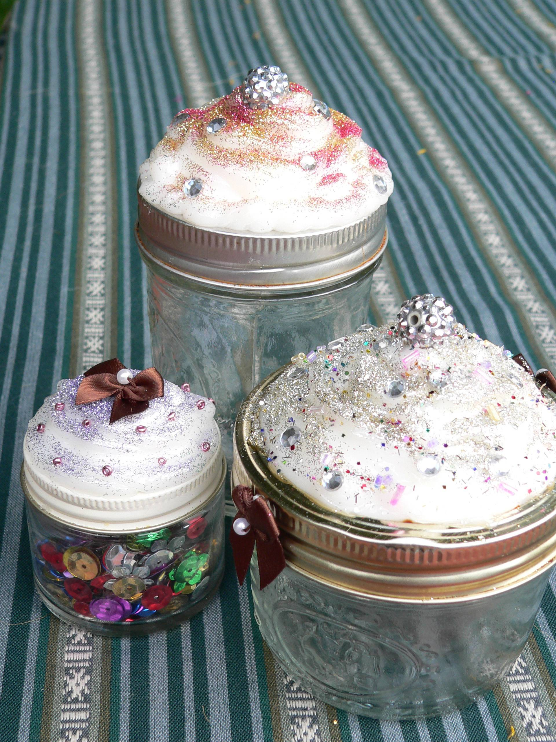 "Faux cupcakes are a teen-approved craft found on Pinterest which involves piping white caulk atop squatty mason jars and decorating with glitter and faux gemstones. Crafting encourages creativity, develops imagination and counters the many hours teens spend on their computers, phones and other ""screens."""