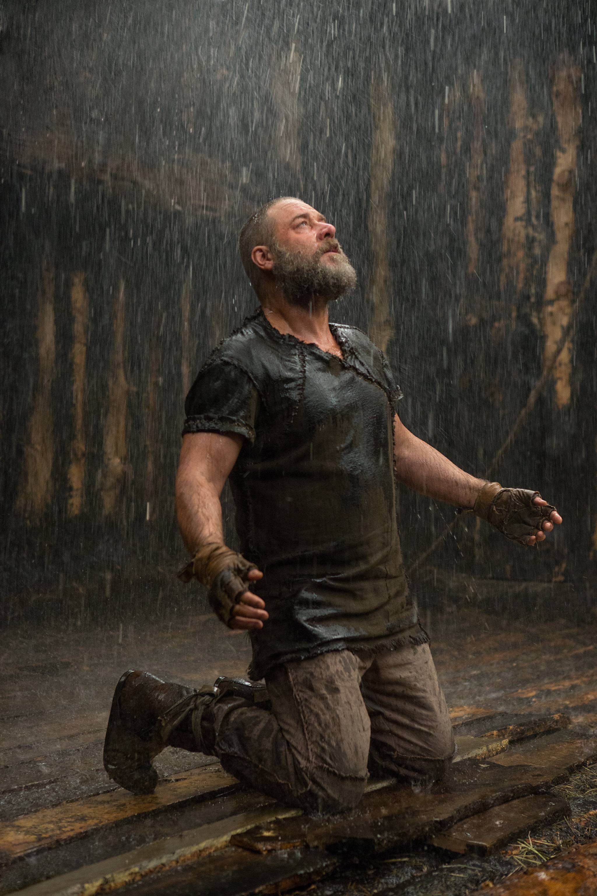 "Noah (Russell Crowe) braces for the great flood in Darren Aronofsky's ""Noah,"" coming to DVD July 29."