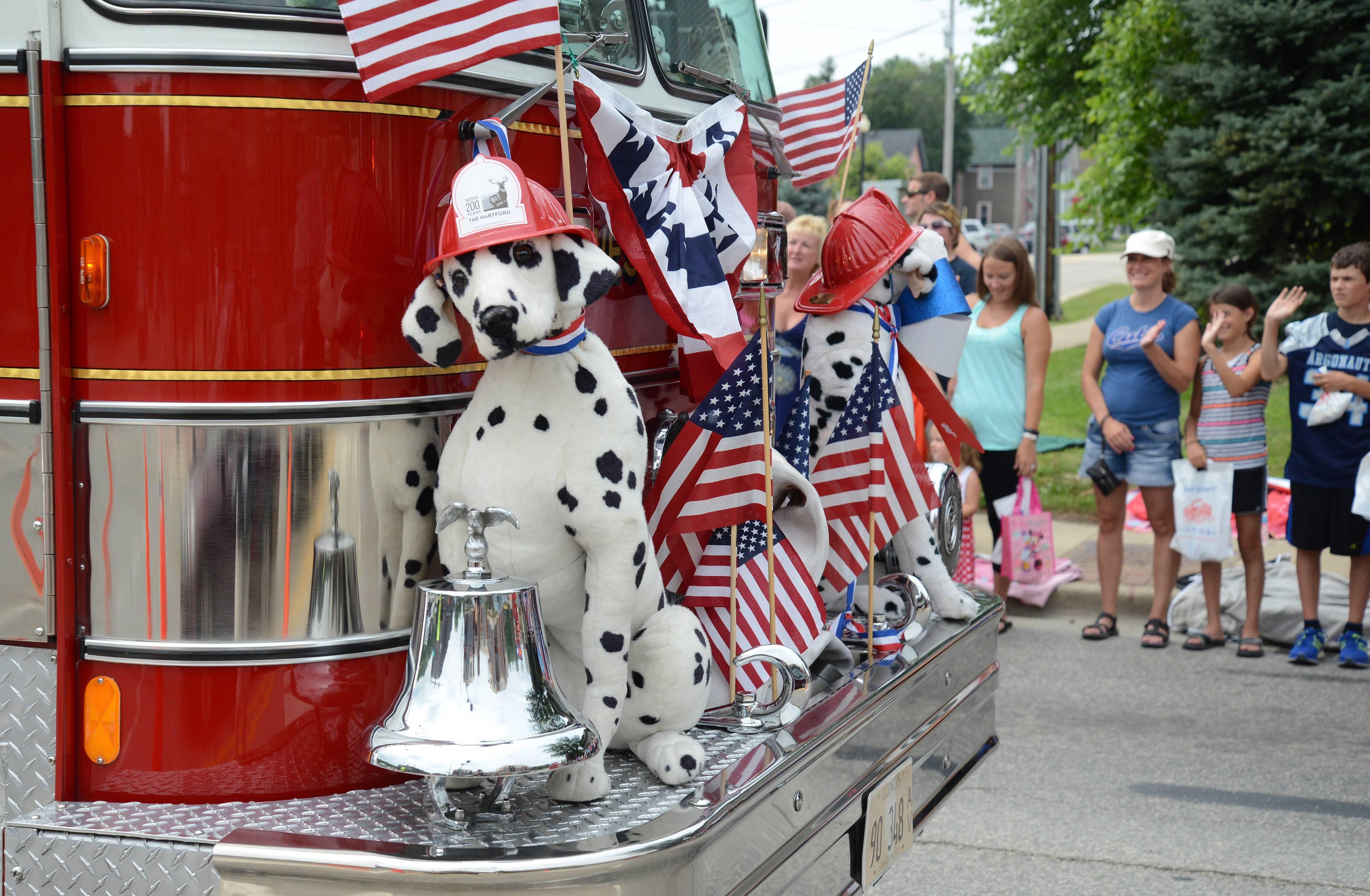 Several emergency vehicles joined in on the Founders' Days parade in Algonquin on Saturday.