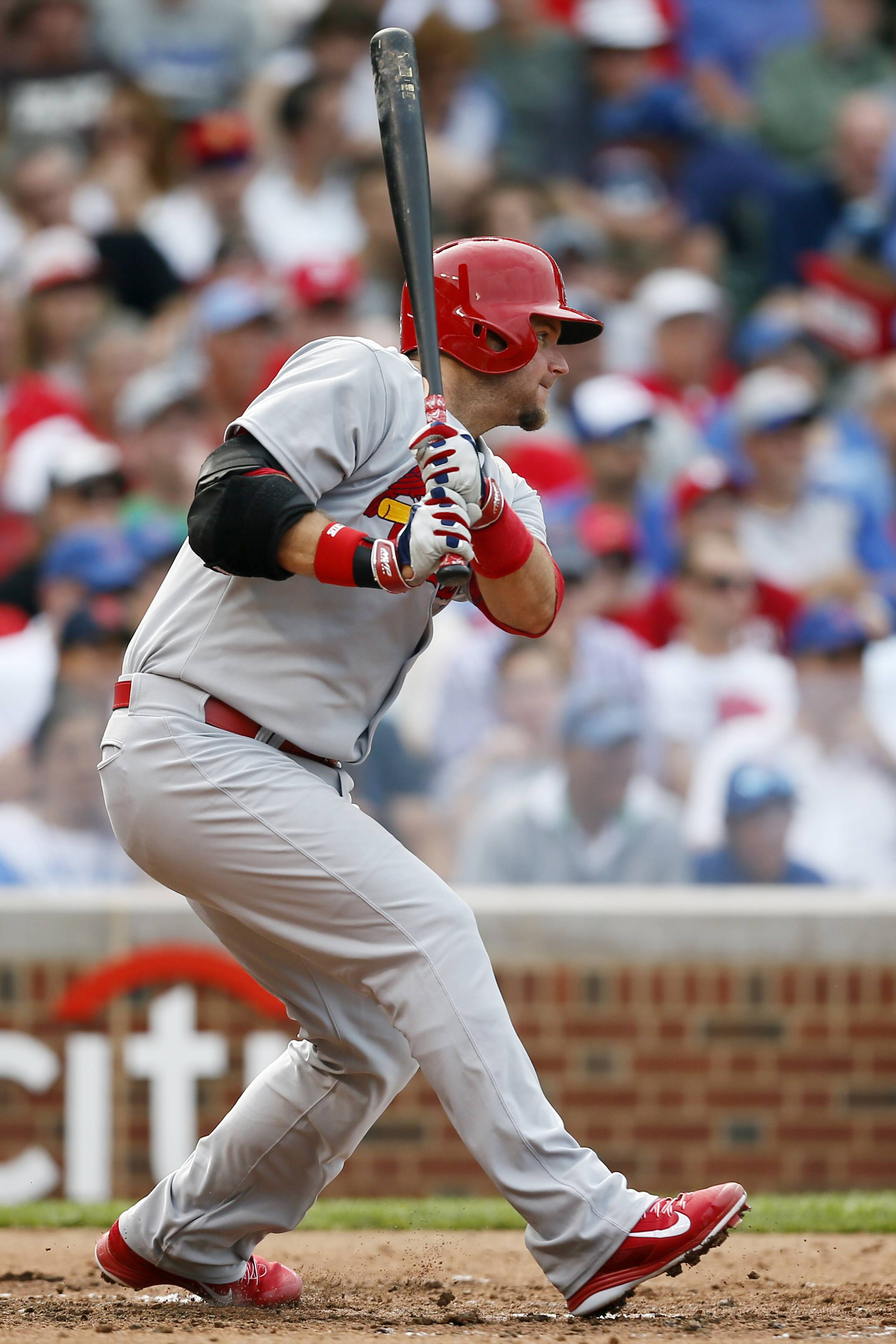 Catcher A.J. Pierzynski went 3-for-4 against the Cubs on Saturday in his debut with the Cardinals.