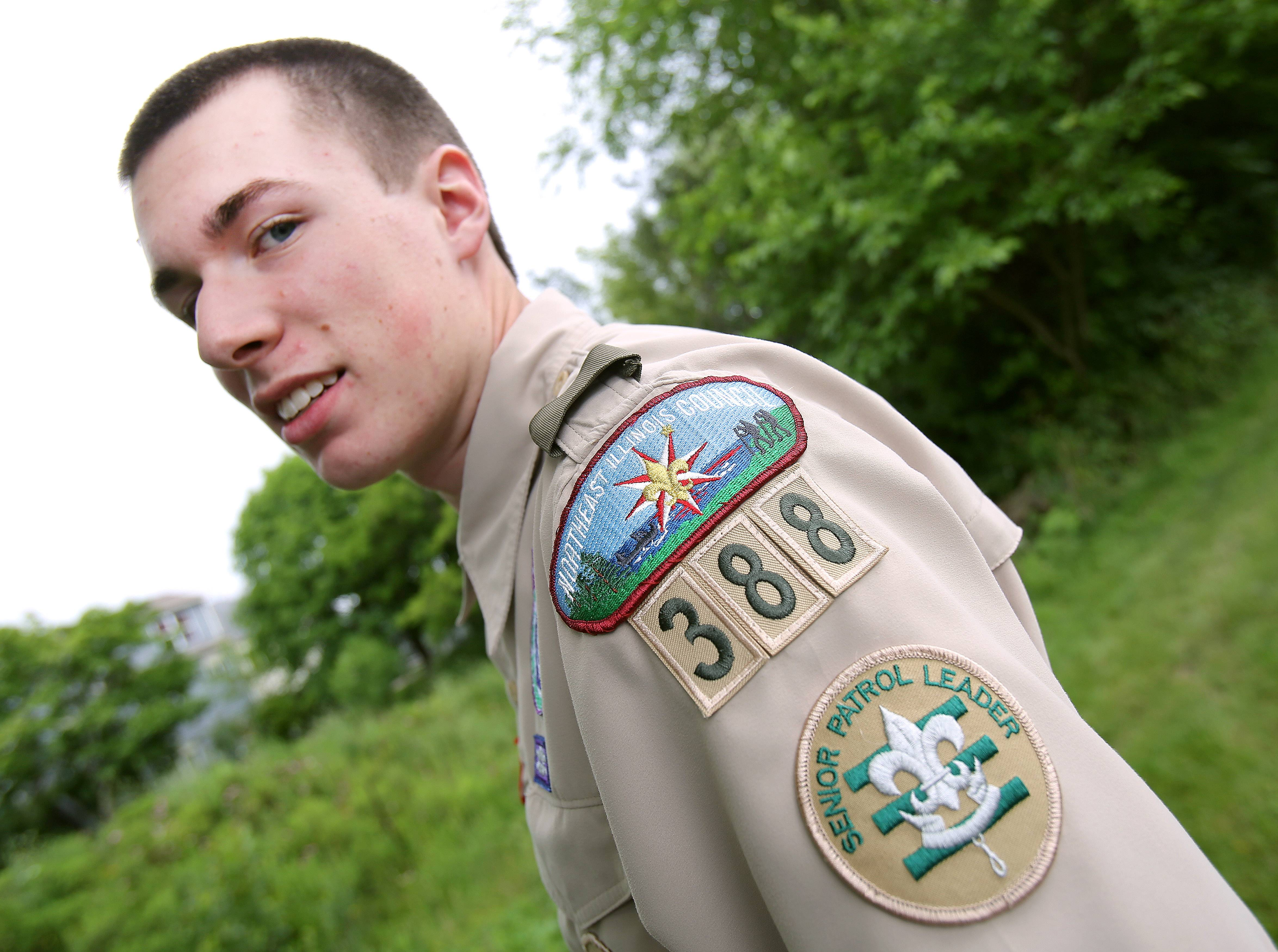 Jack Readdy of Mundelein, 16, started a geocaching program with the Mundelein Park & Recreation District for his Eagle Scout project.