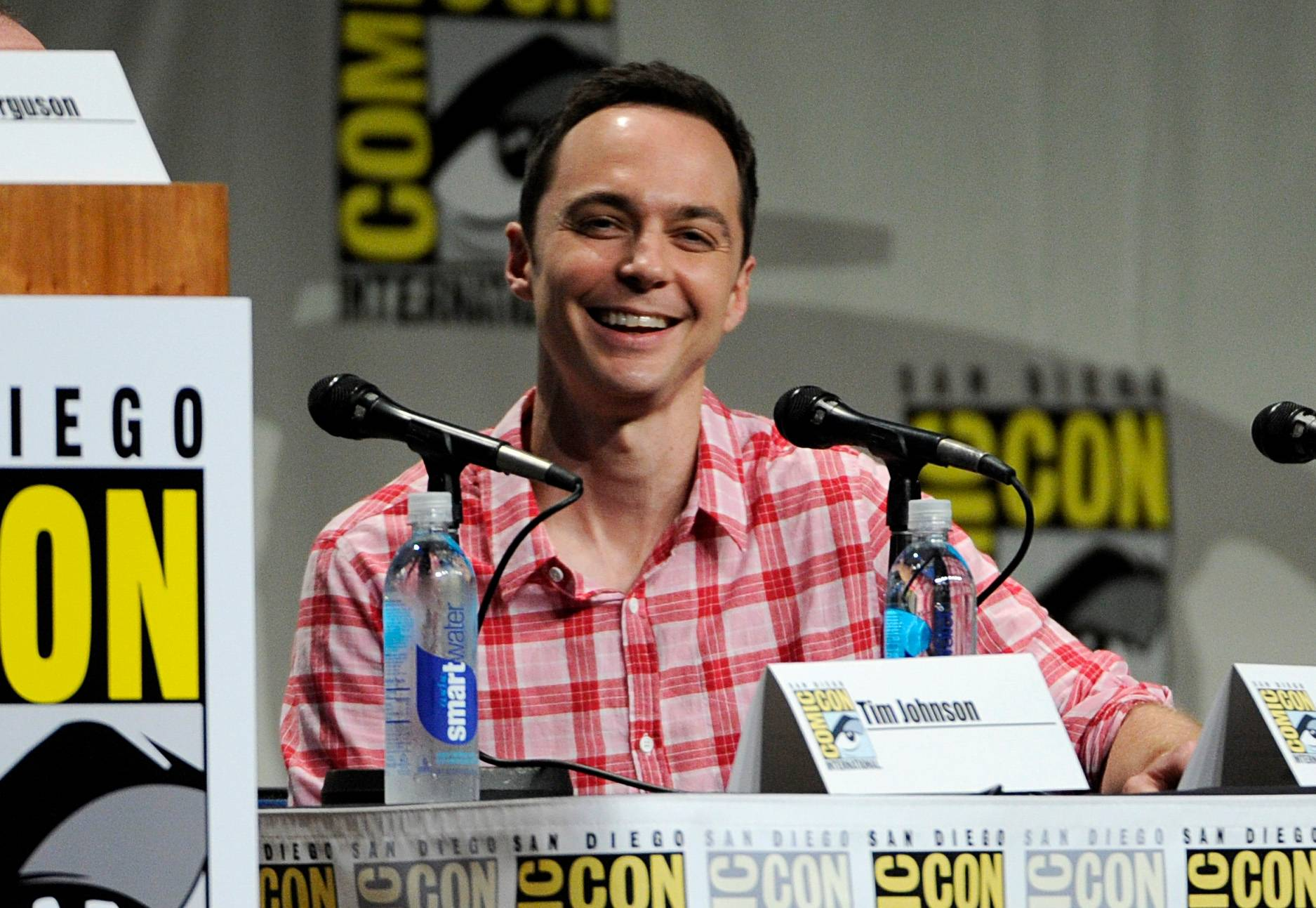 "Jim Parsons attends the ""DreamWorks Animation"" panel on Day 1 of Comic-Con International on Thursday in San Diego."