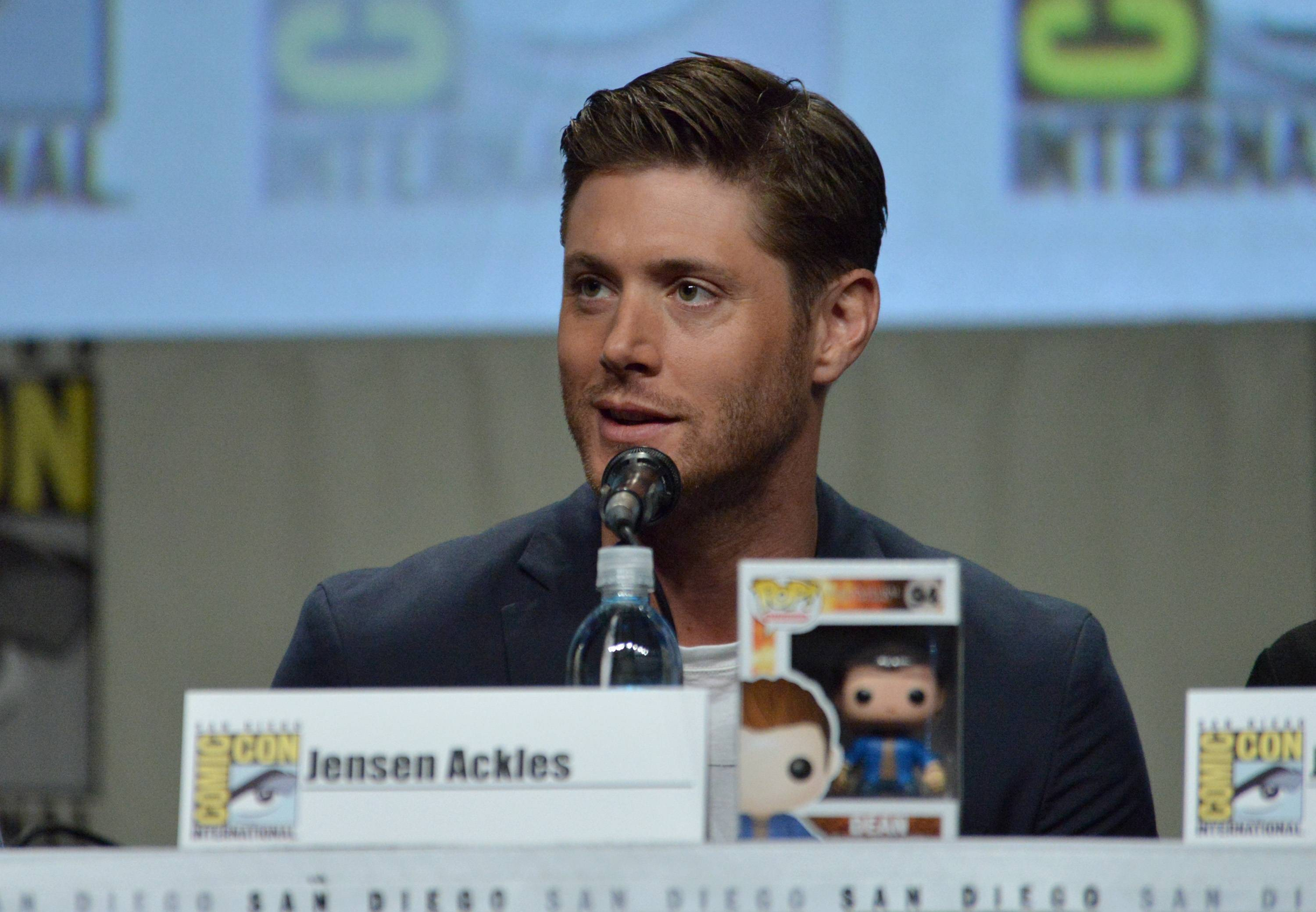"Jensen Ackles attends the ""Supernatural"" special video presentation and Q&A on Day 4 of Comic-Con International on Sunday."