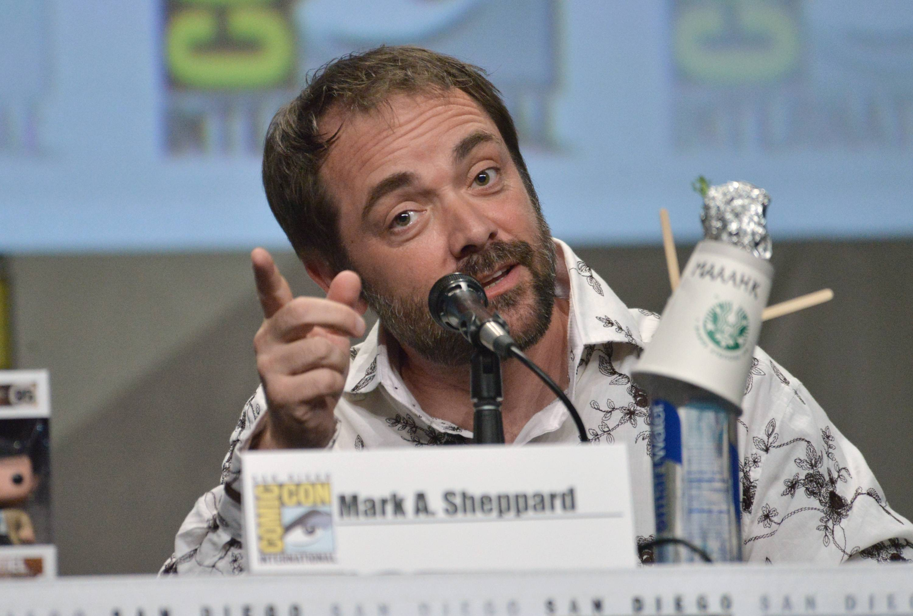 "Mark Sheppard attends the ""Supernatural"" special video presentation and Q&A on Day 4 of Comic-Con International on Sunday."