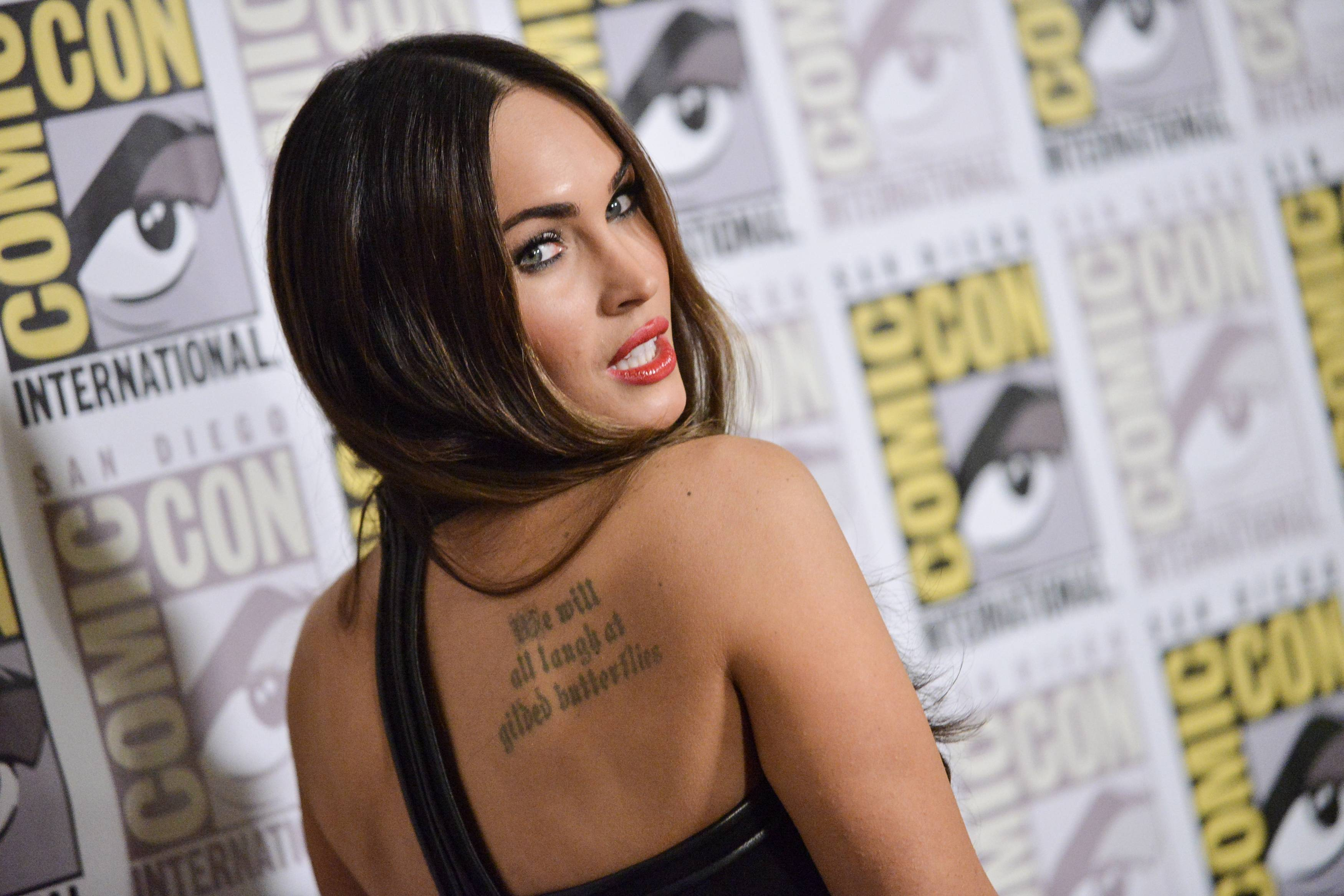 "Megan Fox attends the ""Teenage Mutant Ninja Turtles"" press line on Day 1 of Comic-Con International on Thursday."