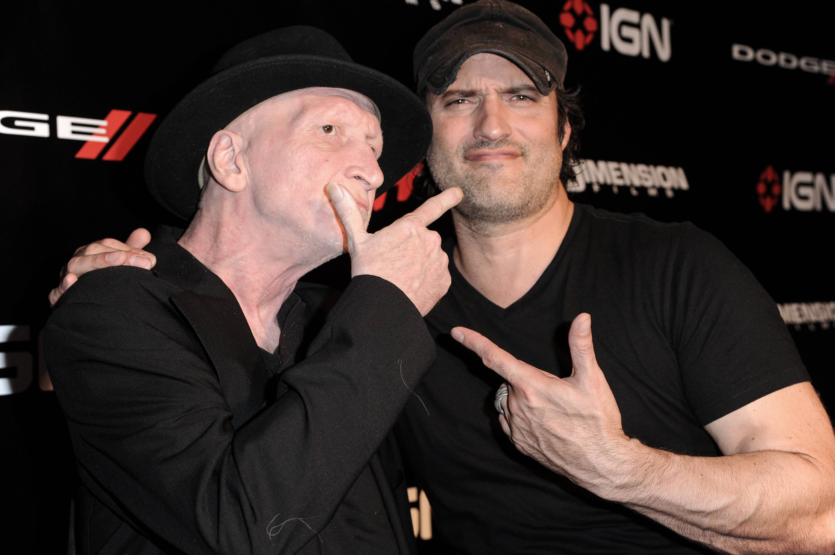 "Frank Miller,  left, and Robert Rodriguez arrive at the  ""2014 Comic-Con -Sin City: A Dame To Kill For"" party on Day 1 of Comic-Con International held at the Hard Rock Hotel on Thursday in San Diego."
