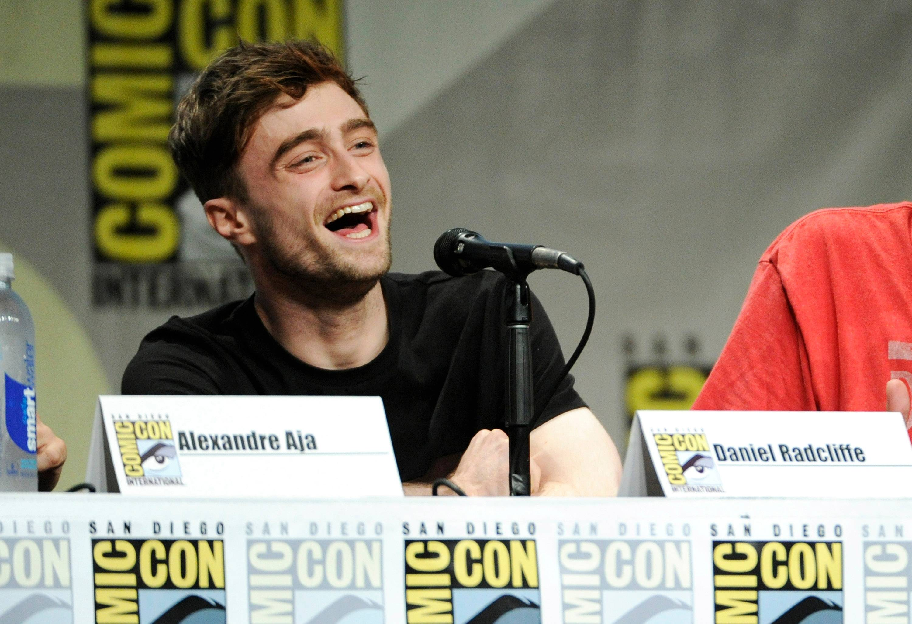 "Daniel Radcliffe attends the RADiUS-TWC ""Horns"" panel on Day 2 of Comic-Con International on Friday."