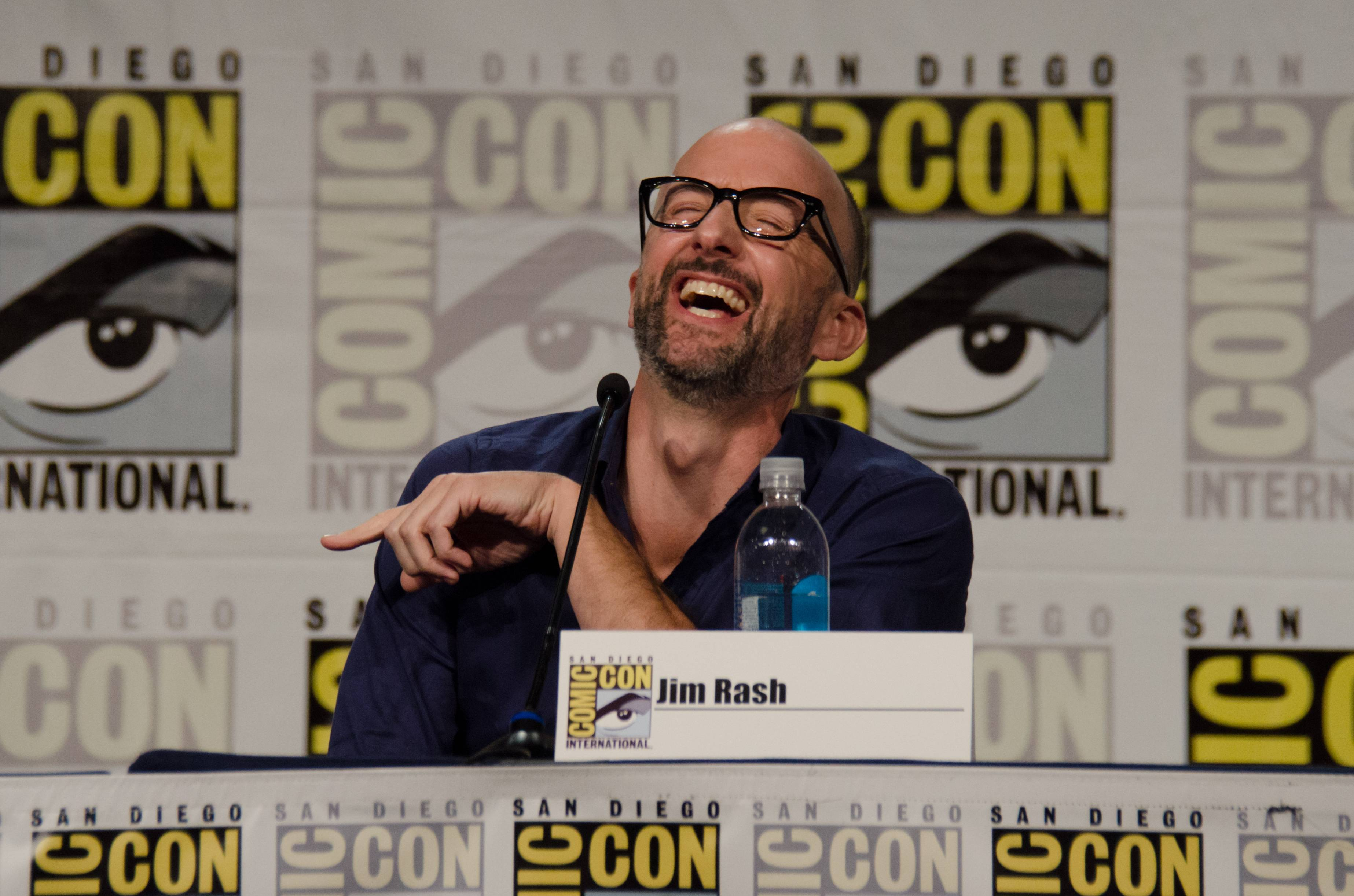"Jim Rash attends the ""Mike Tyson Mysteries"" panel on Day 2 of Comic-Con International on Friday."