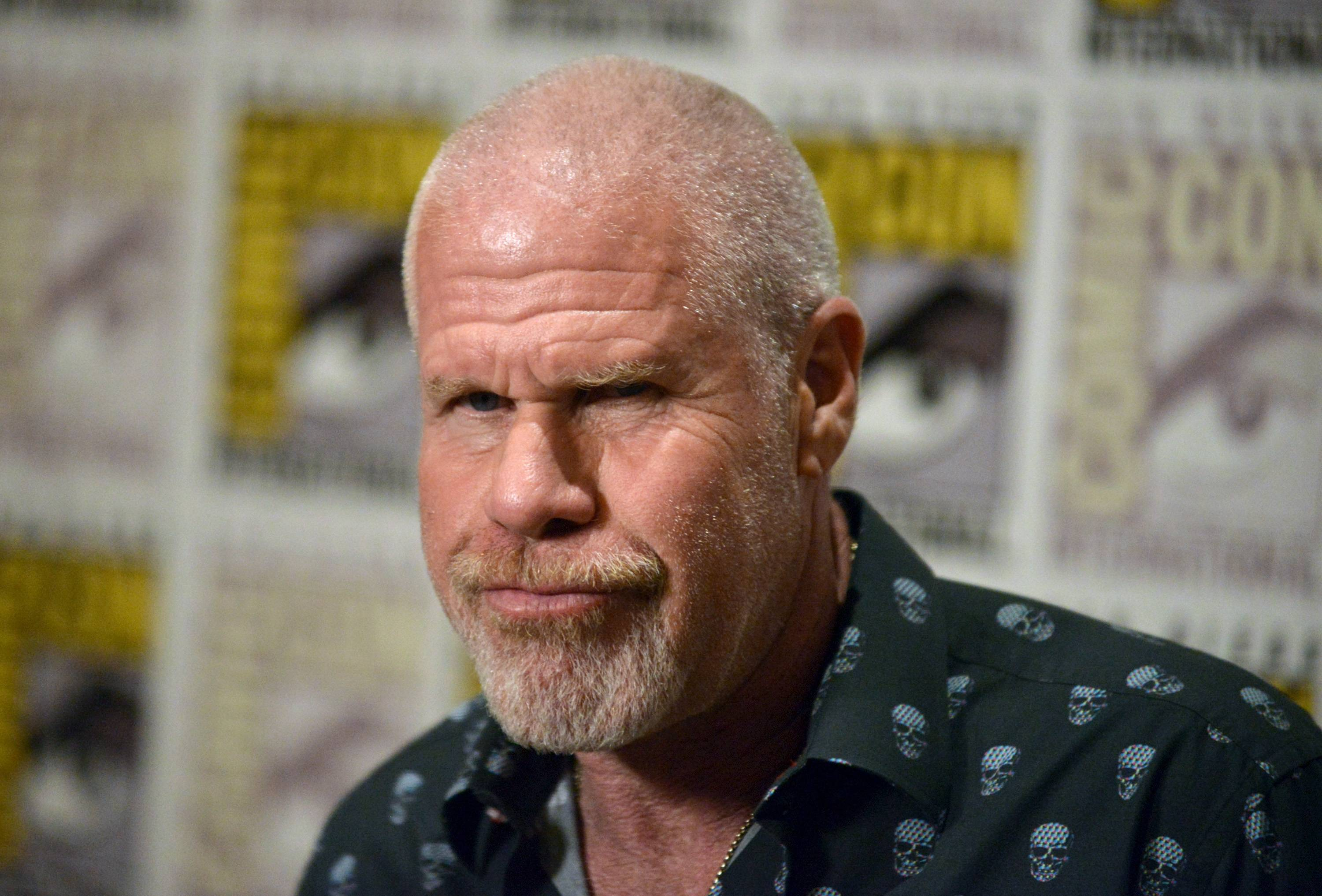 Ron Perlman attends 20th Century Fox press line on Day 2 of Comic-Con International on Friday.
