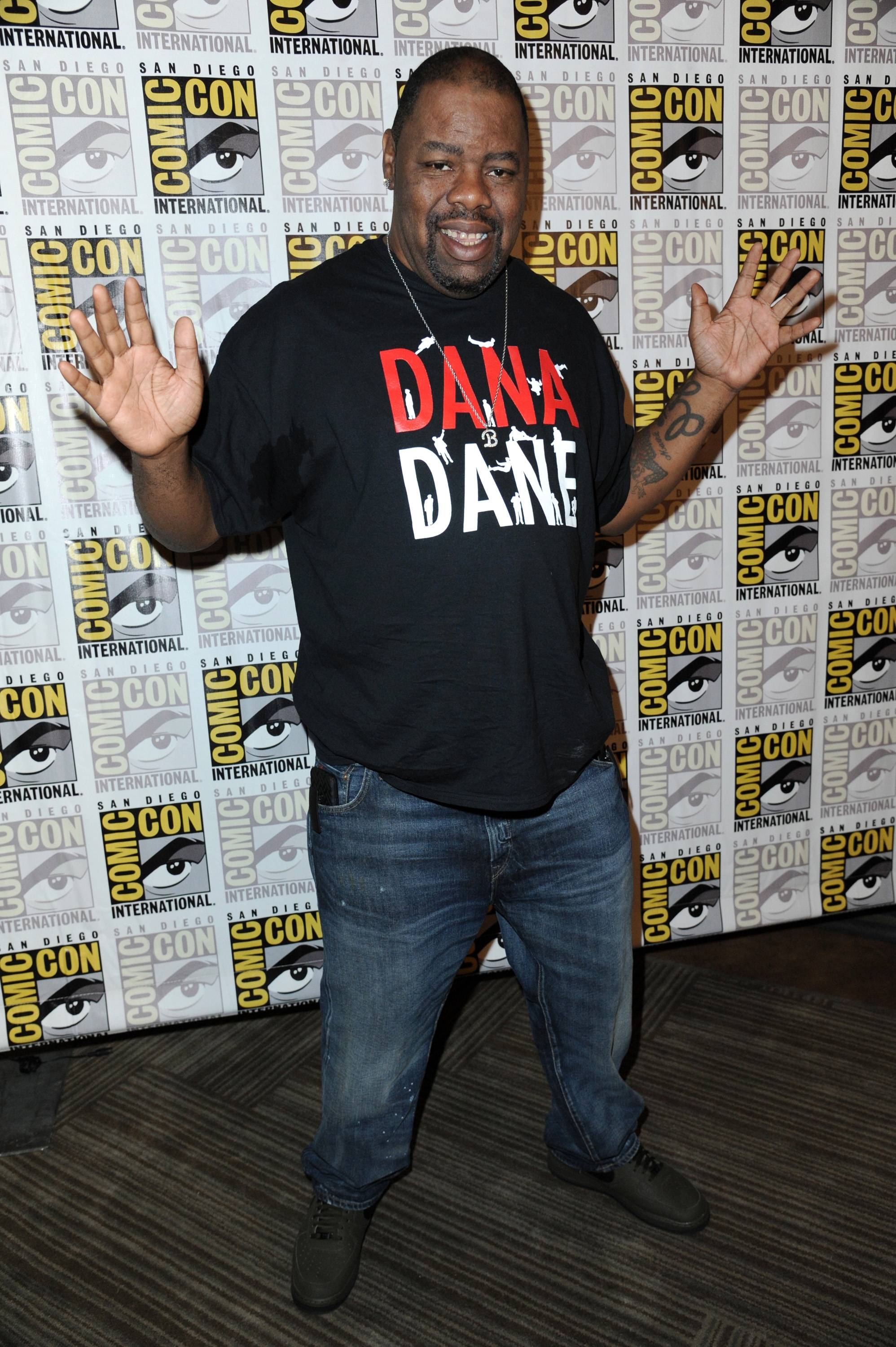 Biz Markie attends 20th Century Fox press line on Day 2 of Comic-Con International on Friday.